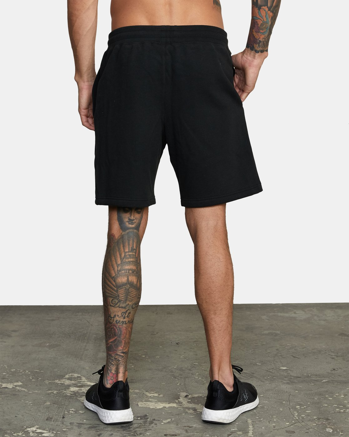 2 Everlast x RVCA - Sweat Shorts for Men Black W4WKMGRVP1 RVCA