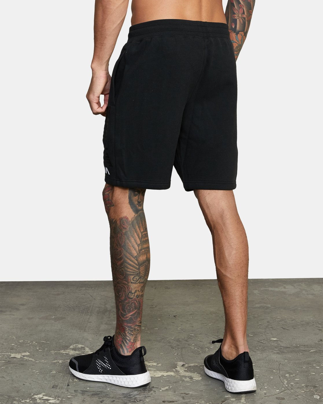 4 Everlast x RVCA - Sweat Shorts for Men Black W4WKMGRVP1 RVCA