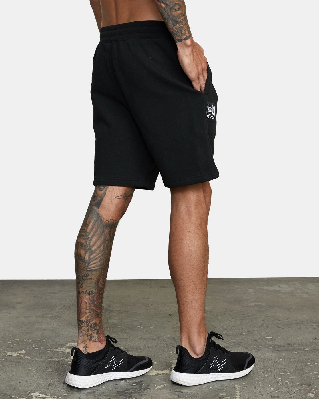 5 Everlast x RVCA - Sweat Shorts for Men Black W4WKMGRVP1 RVCA
