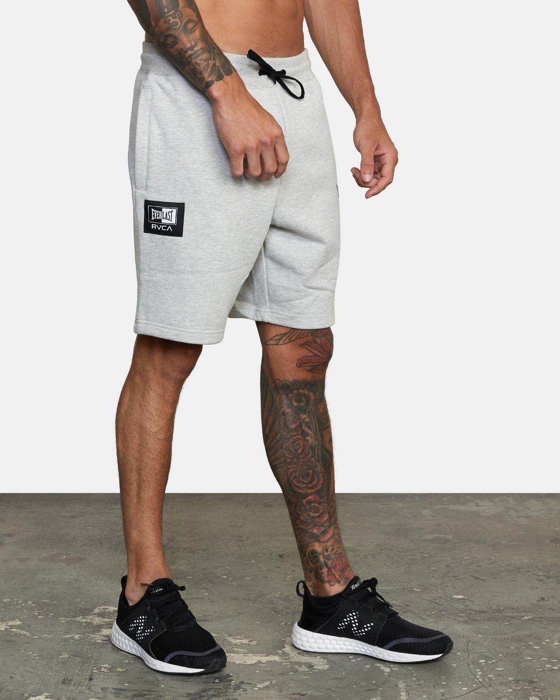 5 Everlast x RVCA - Sweat Shorts for Men Grey W4WKMGRVP1 RVCA