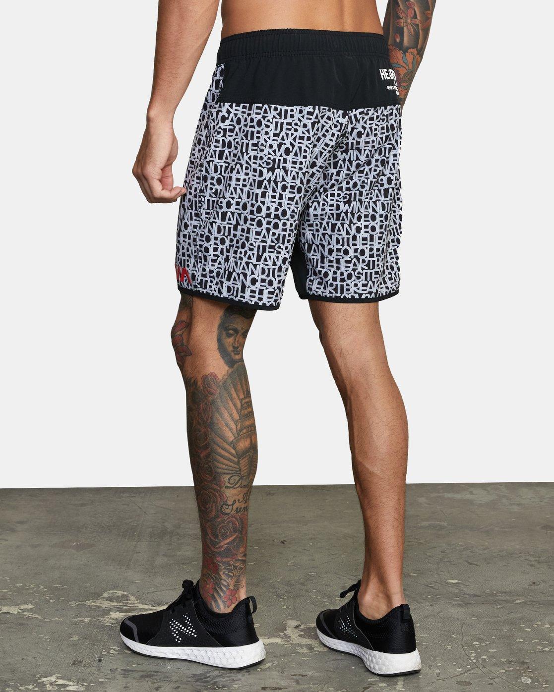"3 Bedwin Nogi 17"" - Performance Shorts for Men Black W4WKMJRVP1 RVCA"