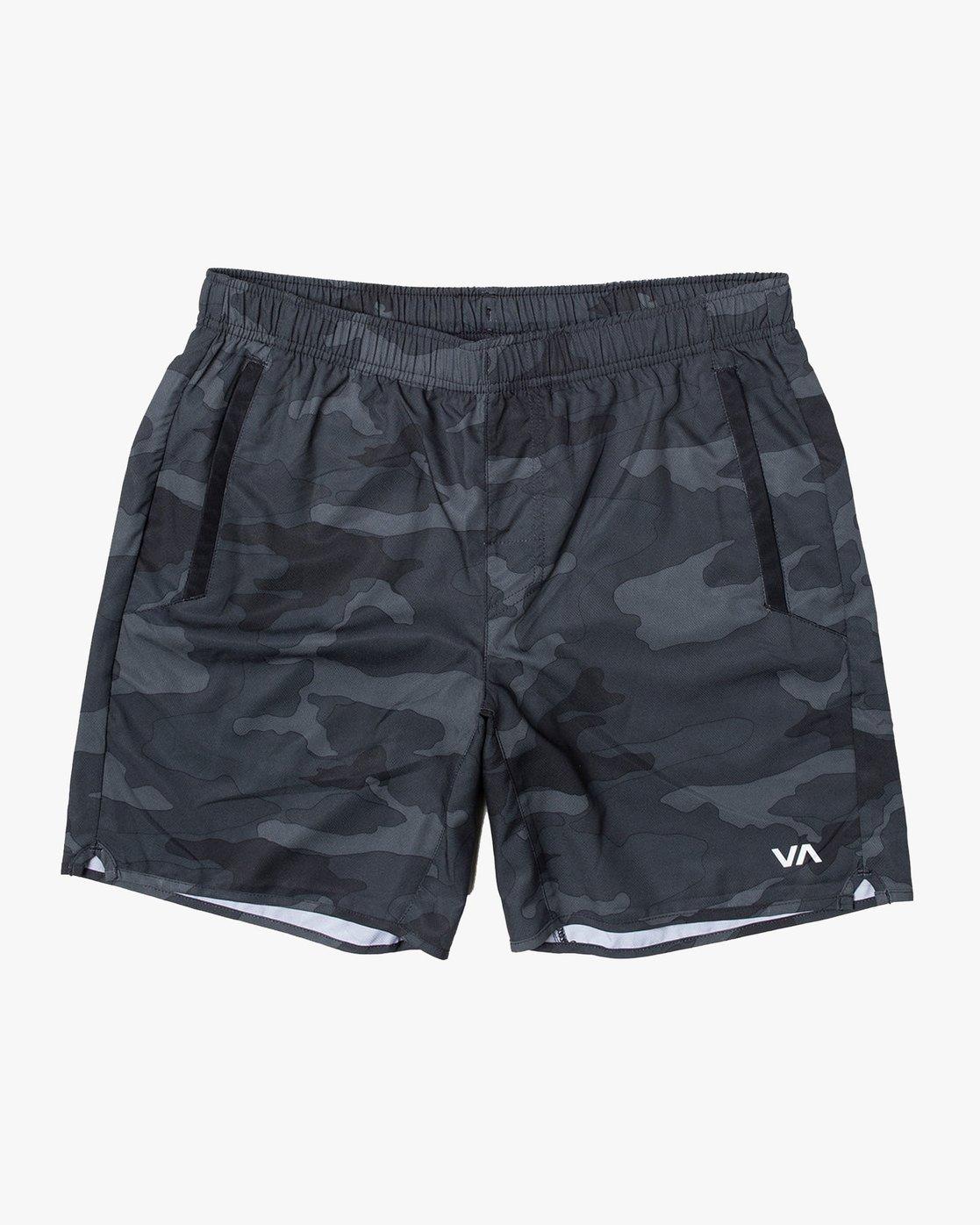 "0 Yogger IV 17"" - Workout Shorts for Men Camo W4WKMLRVP1 RVCA"