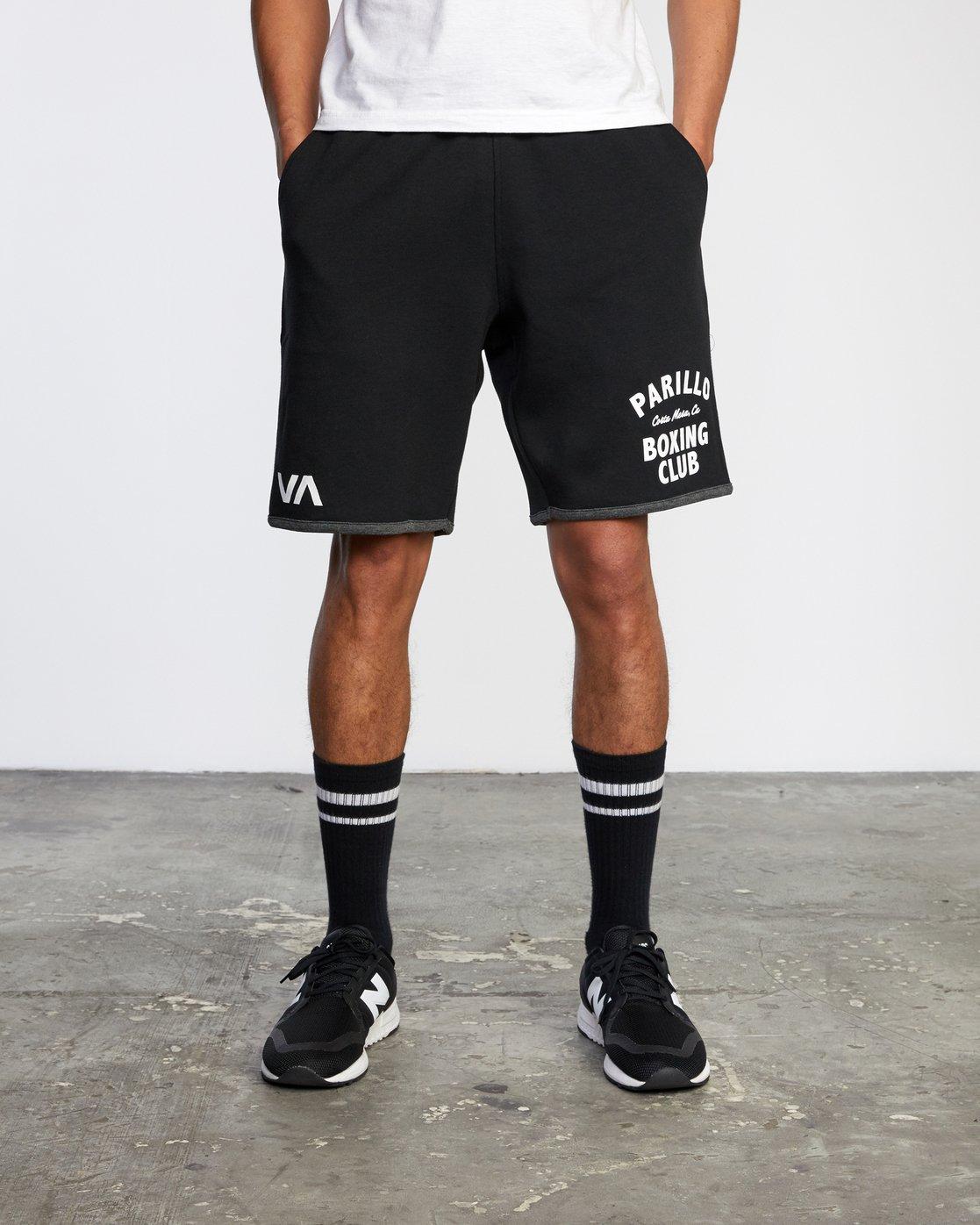"1 VA Sport Parillo - Sport Shorts 17"" for Men Black W4WKMNRVP1 RVCA"