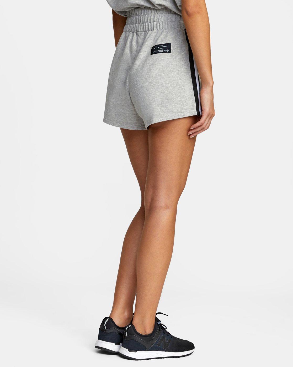 6 Everlast x RVCA - Sweat Shorts for Women Grey W4WKWBRVP1 RVCA