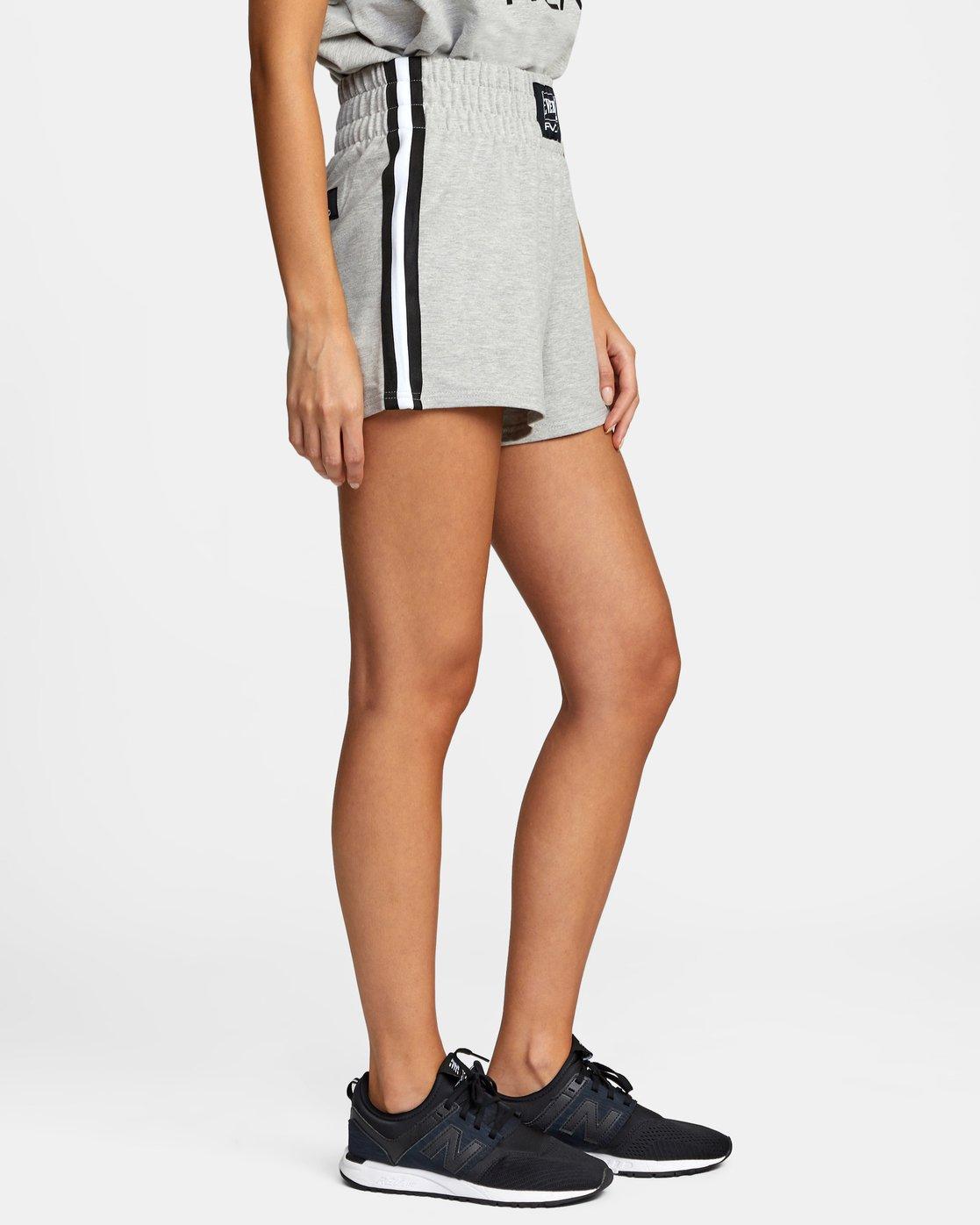 8 Everlast x RVCA - Sweat Shorts for Women Grey W4WKWBRVP1 RVCA