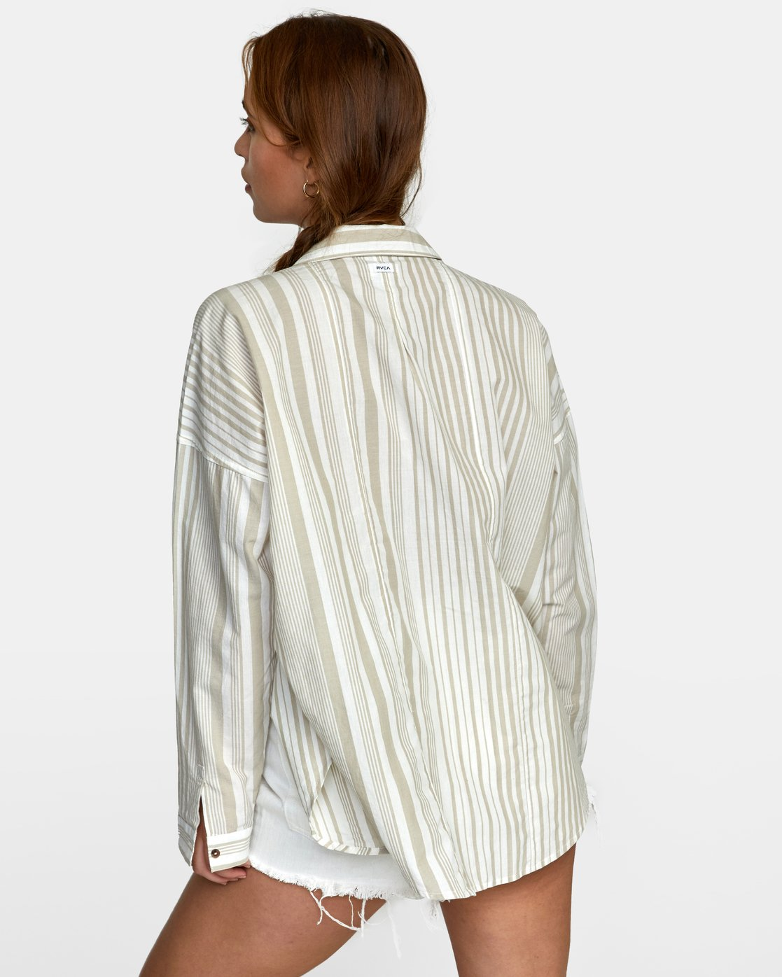1 HABIT OVERSIZED BUTTON-UP SHIRT Grey W5011RHA RVCA