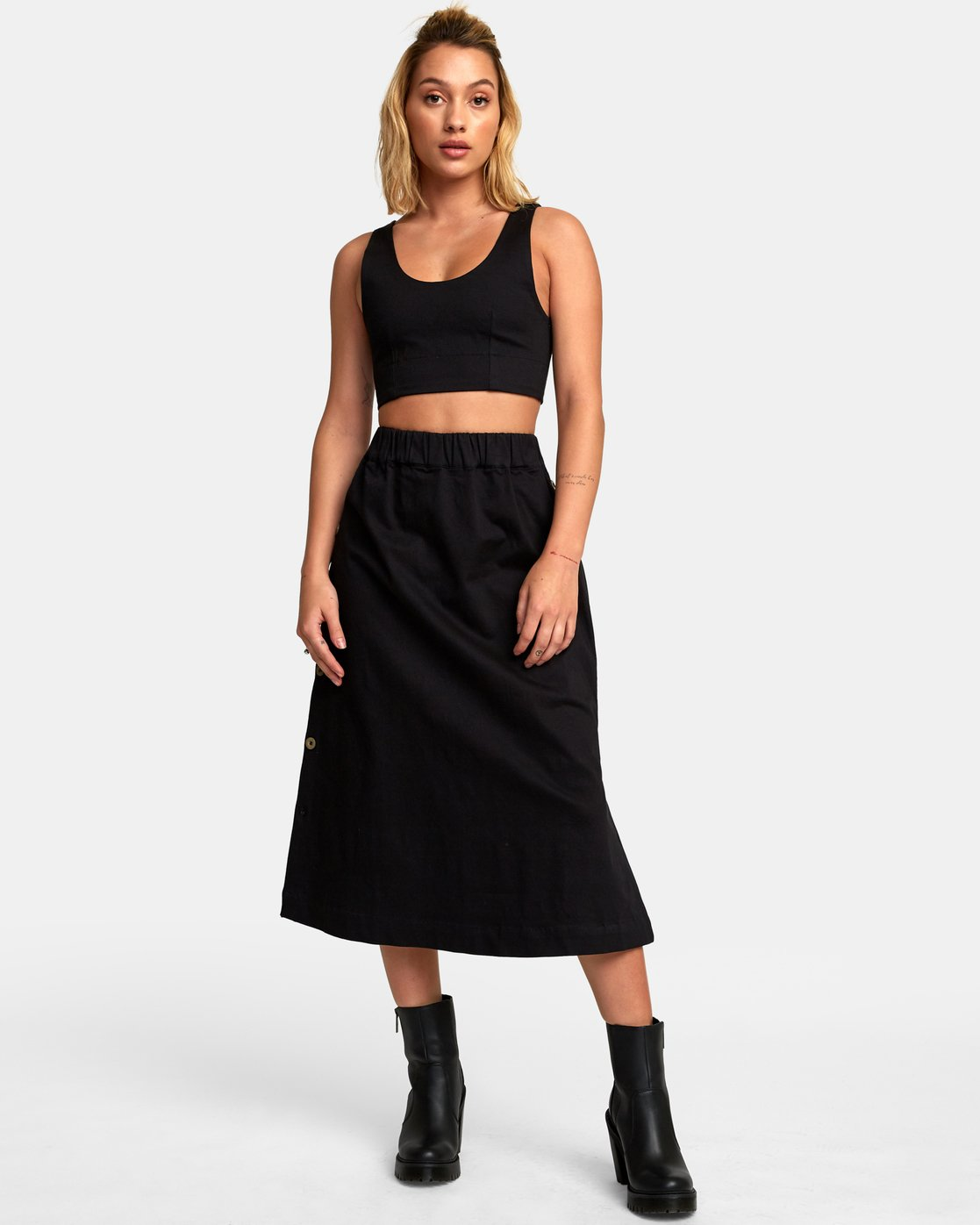 2 Projection Woven Crop Top Black W502WRPR RVCA