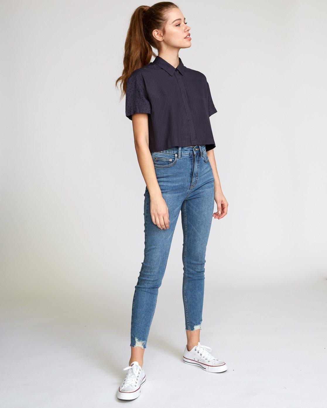4 Fara Woven Shirt Black W503VRFA RVCA