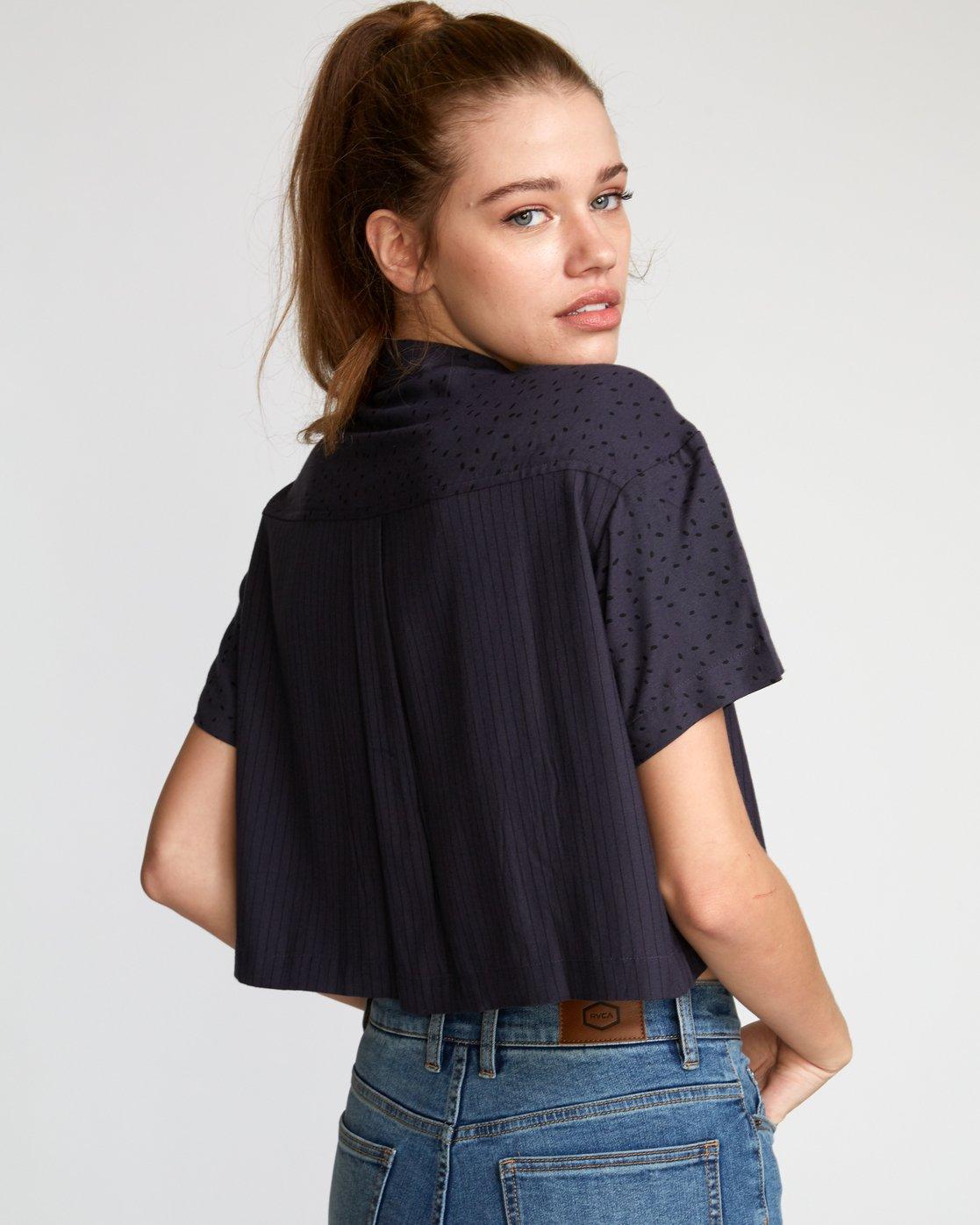 2 Fara Woven Shirt Black W503VRFA RVCA