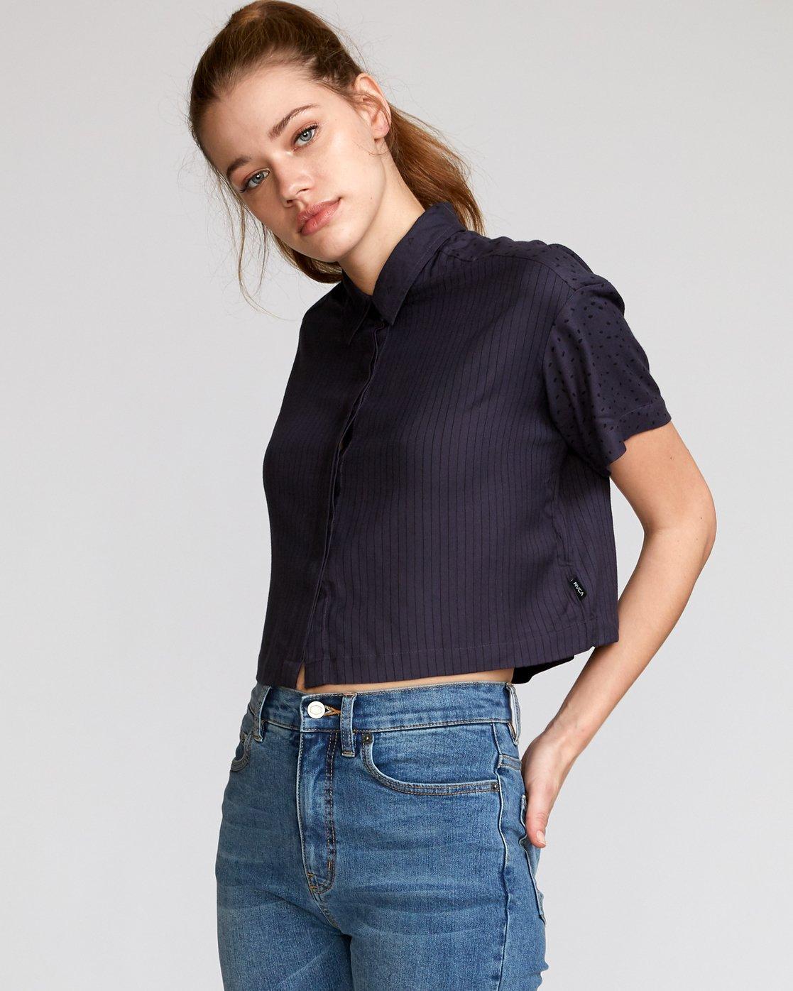 1 Fara Woven Shirt Black W503VRFA RVCA