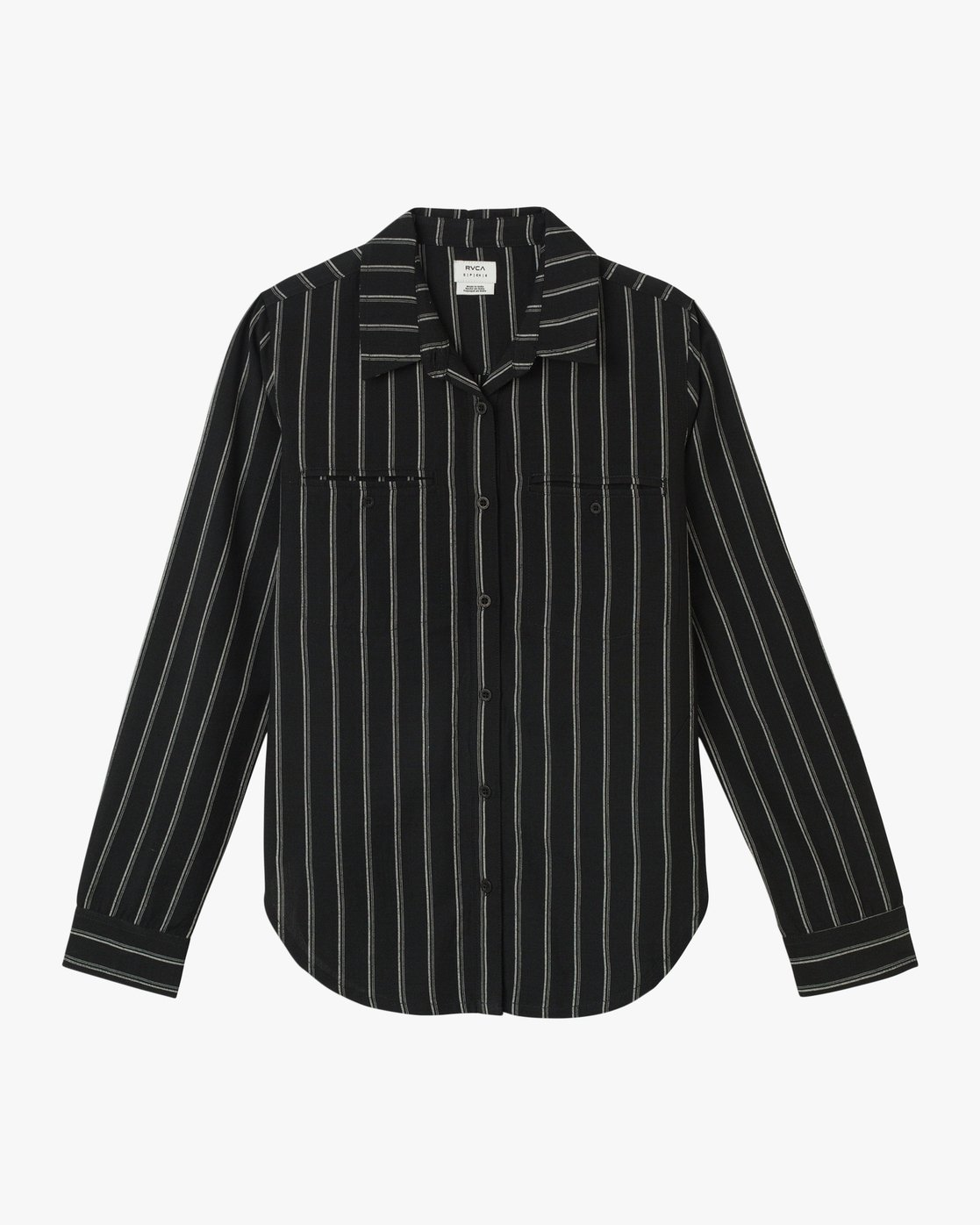 6 Boarding Now Woven Button-Up Shirt Black W504TRBN RVCA