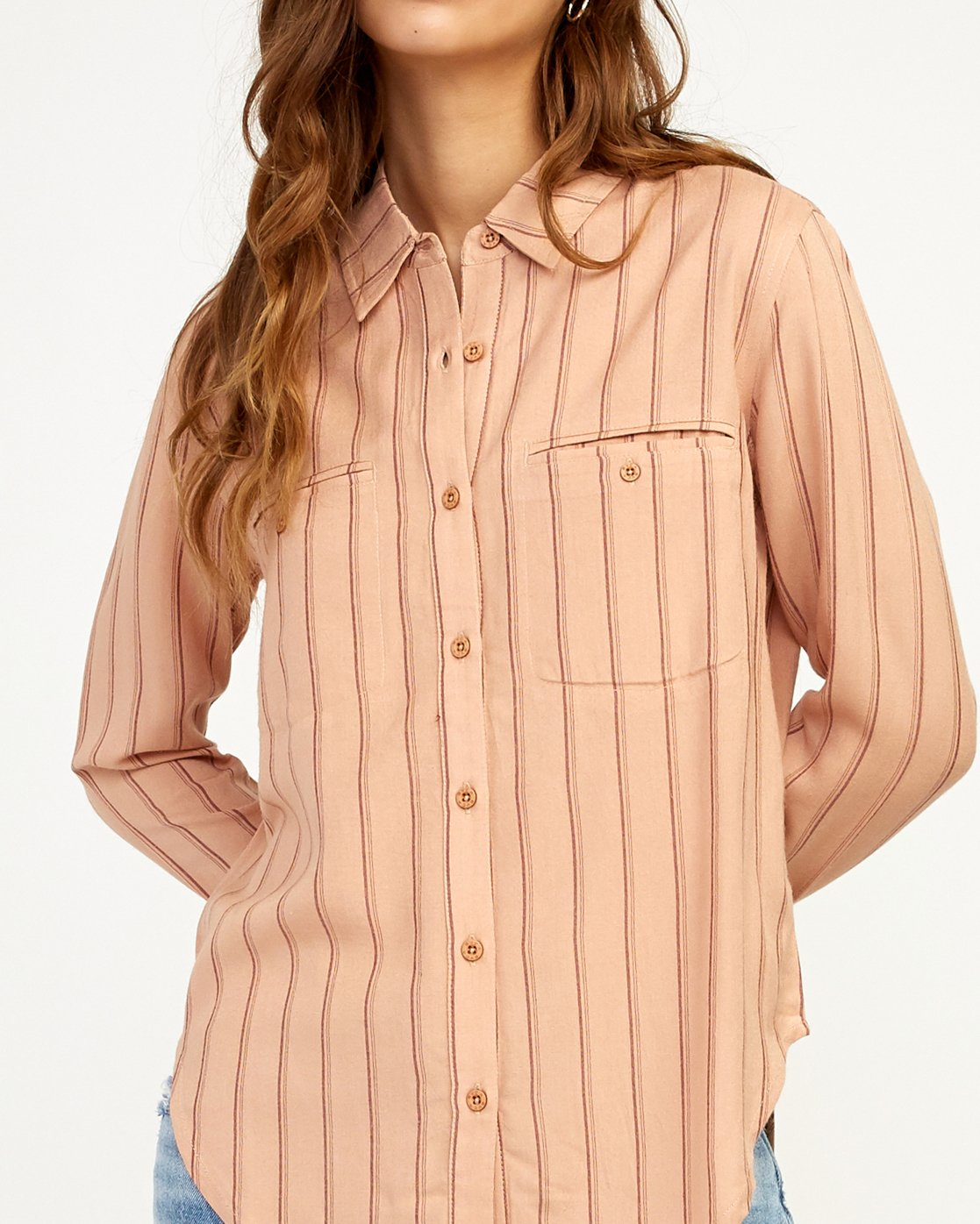 4 Boarding Now Woven Button-Up Shirt Beige W504TRBN RVCA