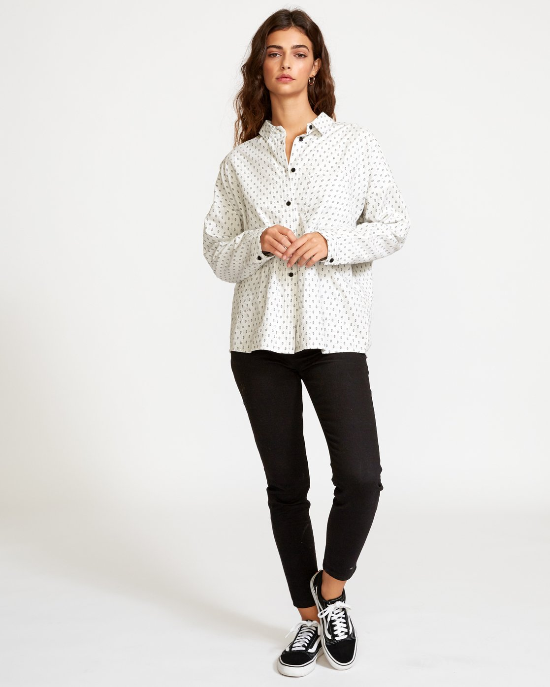 4 Hera Oversized Button-Up Shirt White W504VRHE RVCA