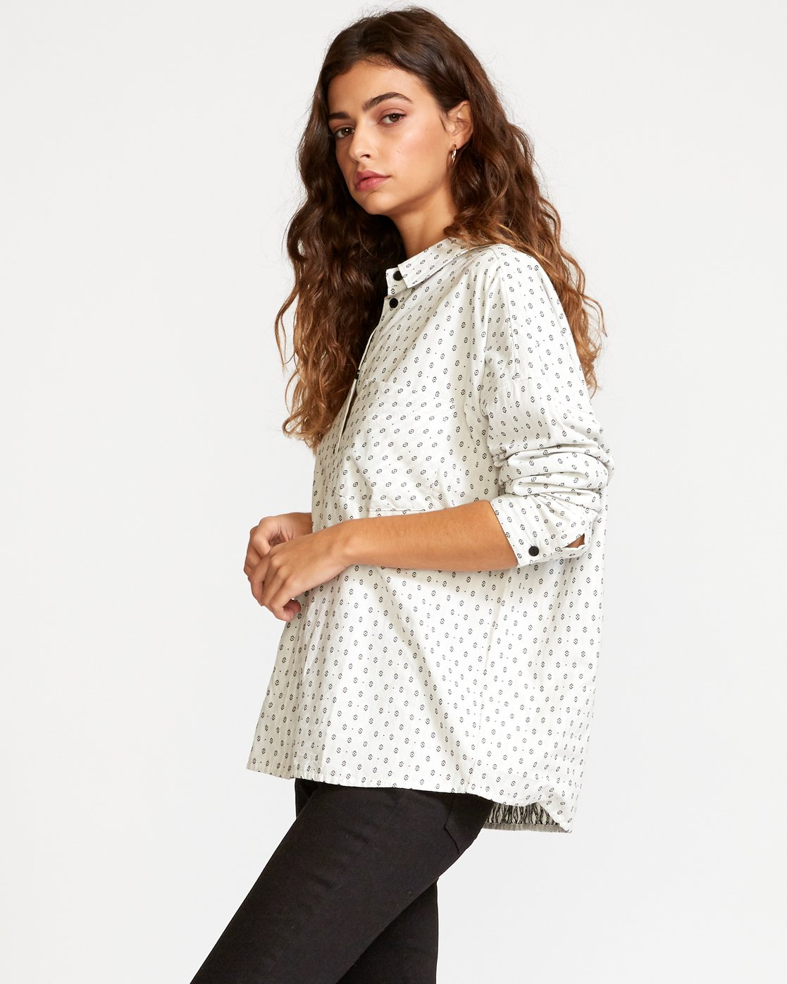 1 Hera Oversized Button-Up Shirt White W504VRHE RVCA