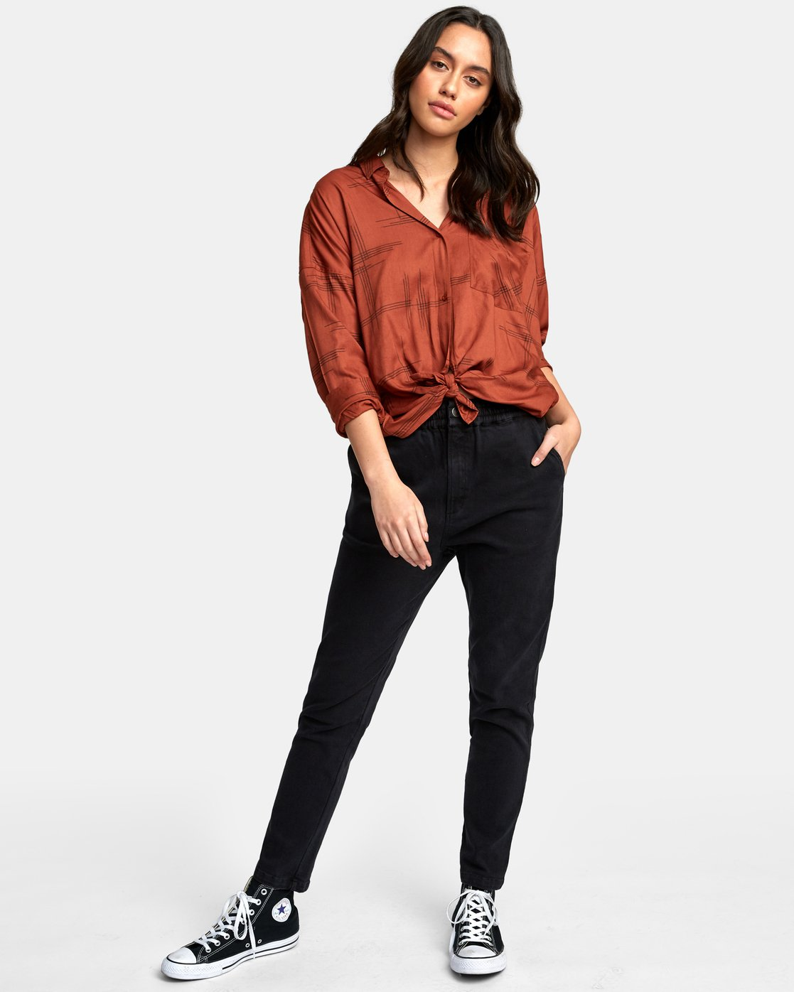 4 Hera Oversized Button-Up Shirt  W504WRHE RVCA