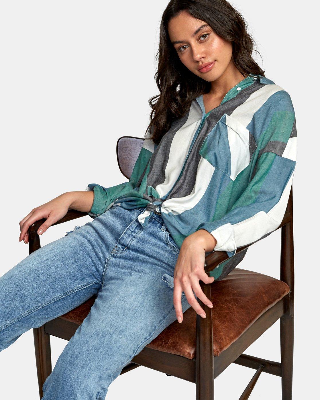 0 Hera Oversized Button-Up Shirt  W504WRHE RVCA