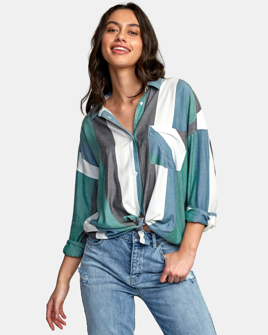 1 Hera Oversized Button-Up Shirt  W504WRHE RVCA