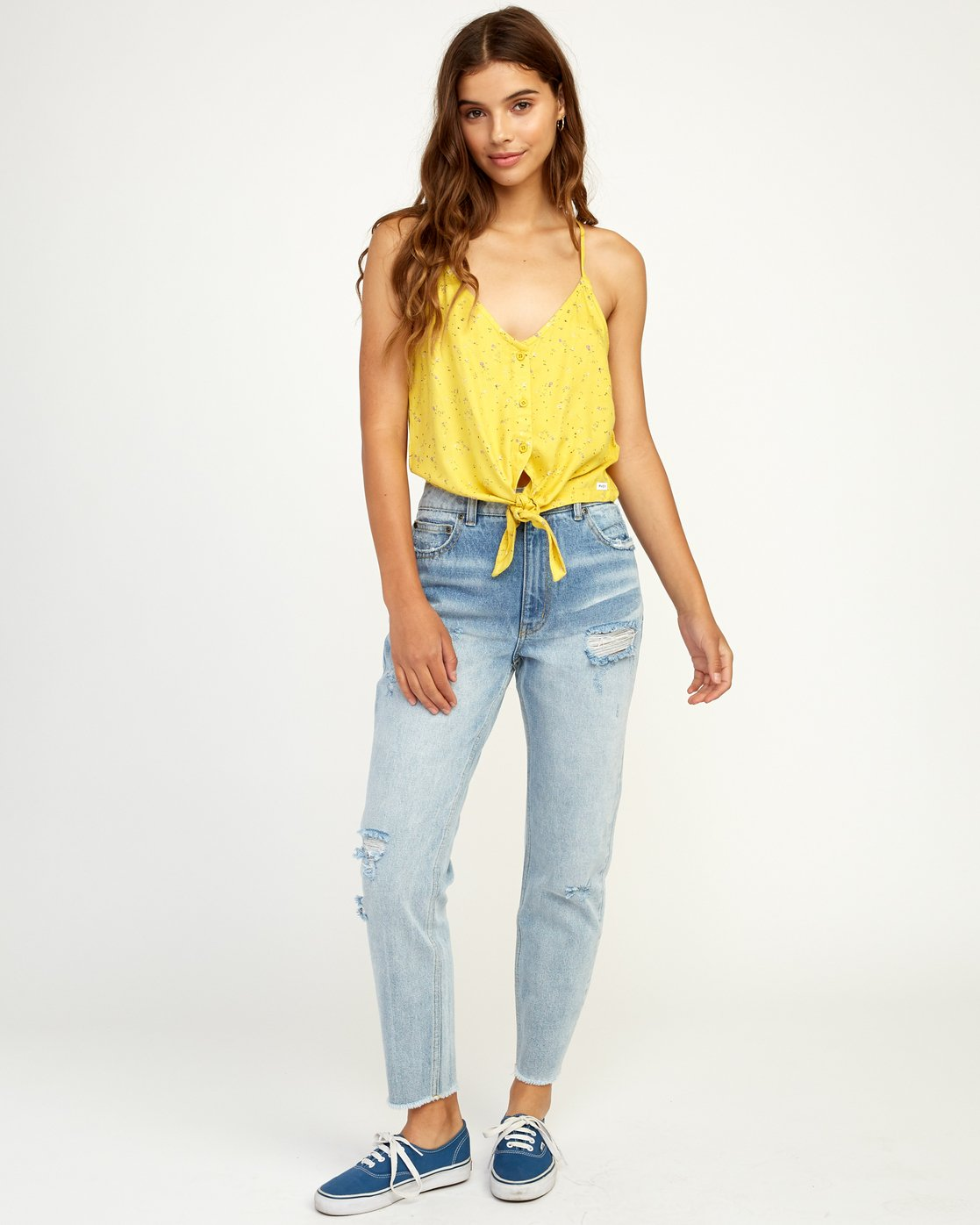 4 Your Escape Printed Tank Top Yellow W505TRYE RVCA