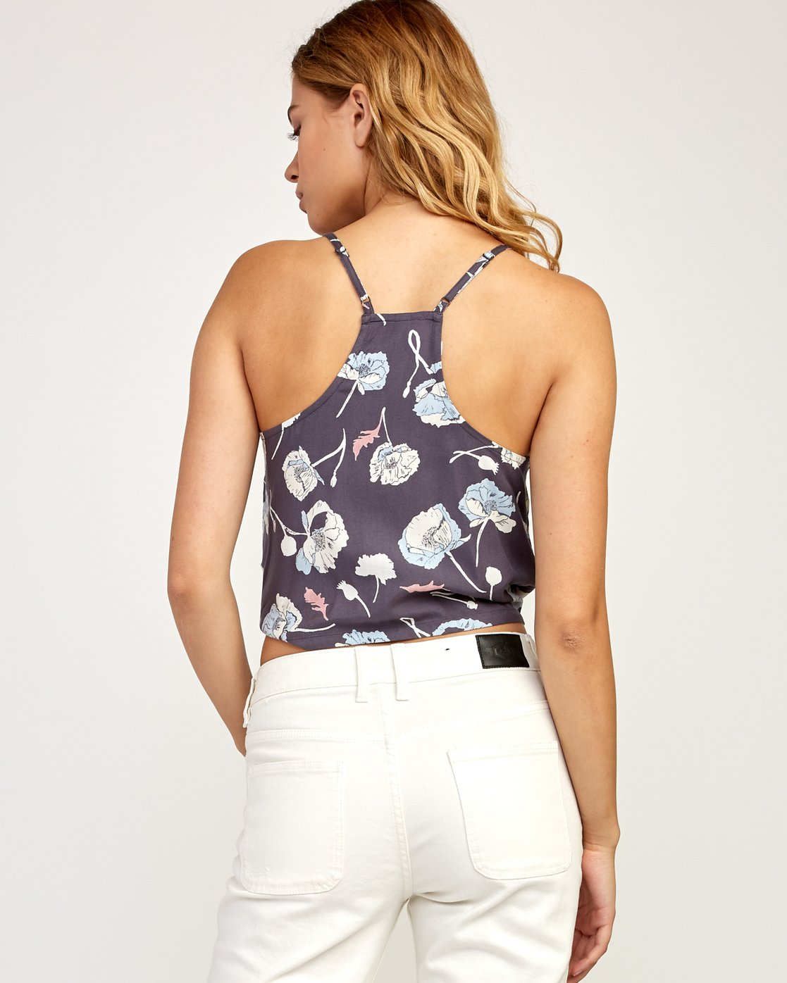 3 Your Escape Printed Tank Top Grey W505TRYE RVCA