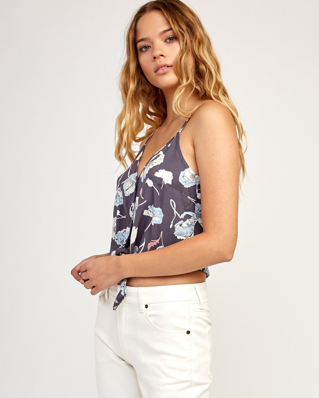 1 Your Escape Printed Tank Top Grey W505TRYE RVCA