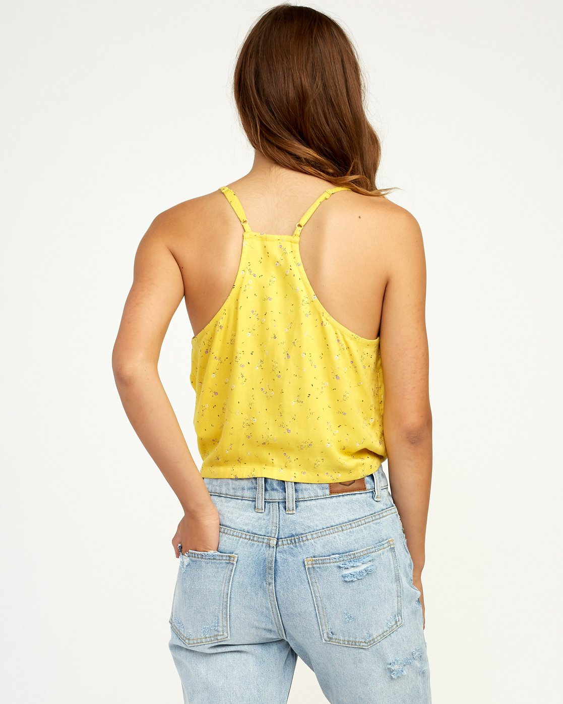 2 Your Escape Printed Tank Top Yellow W505TRYE RVCA