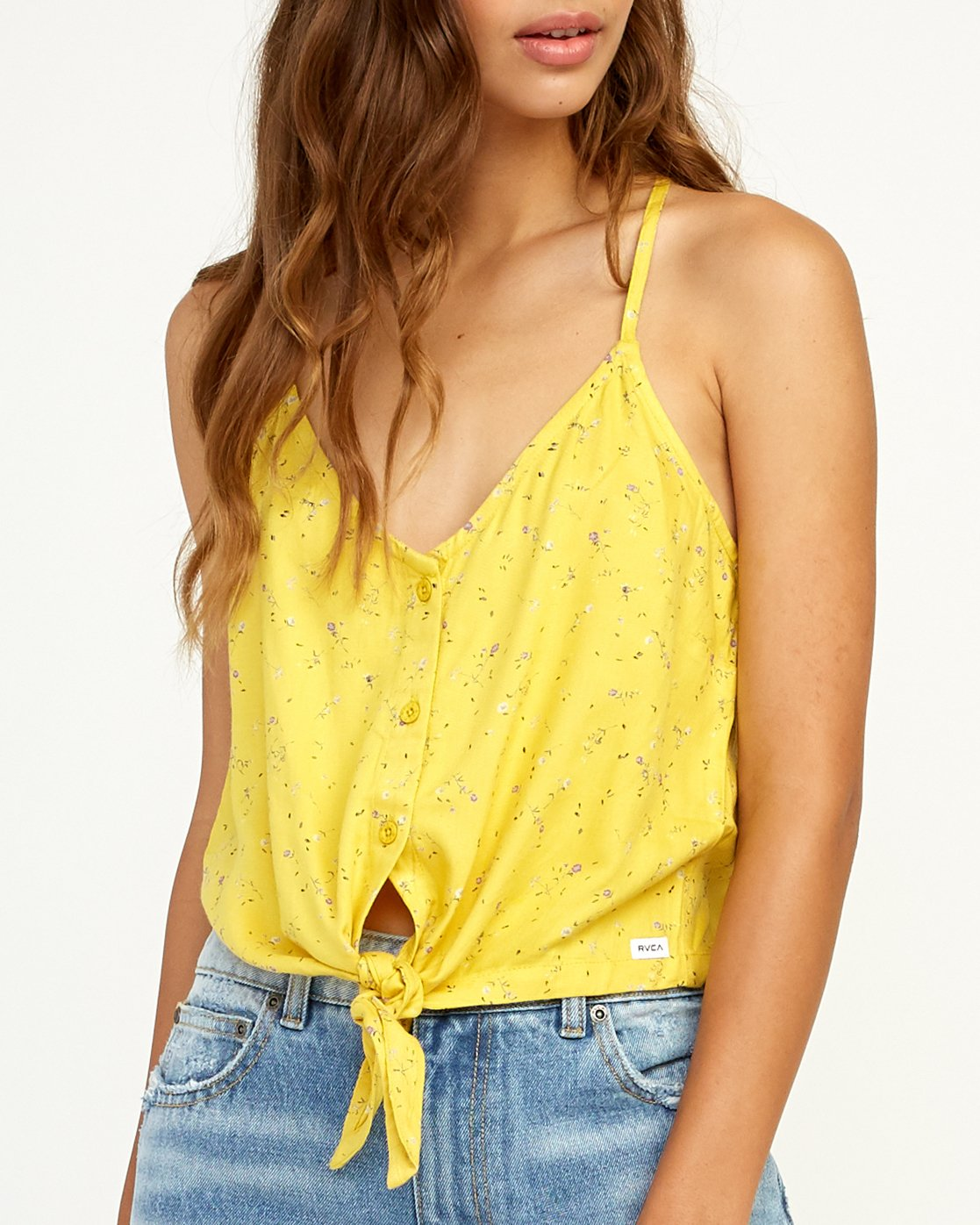 3 Your Escape Printed Tank Top Yellow W505TRYE RVCA