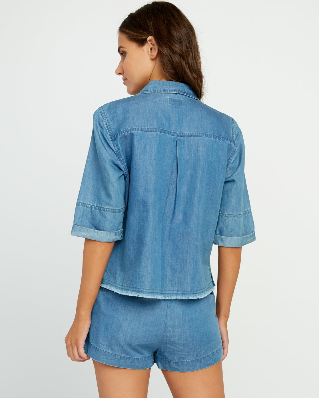 2 Inner Thoughts Chambray Shirt  W505URIN RVCA