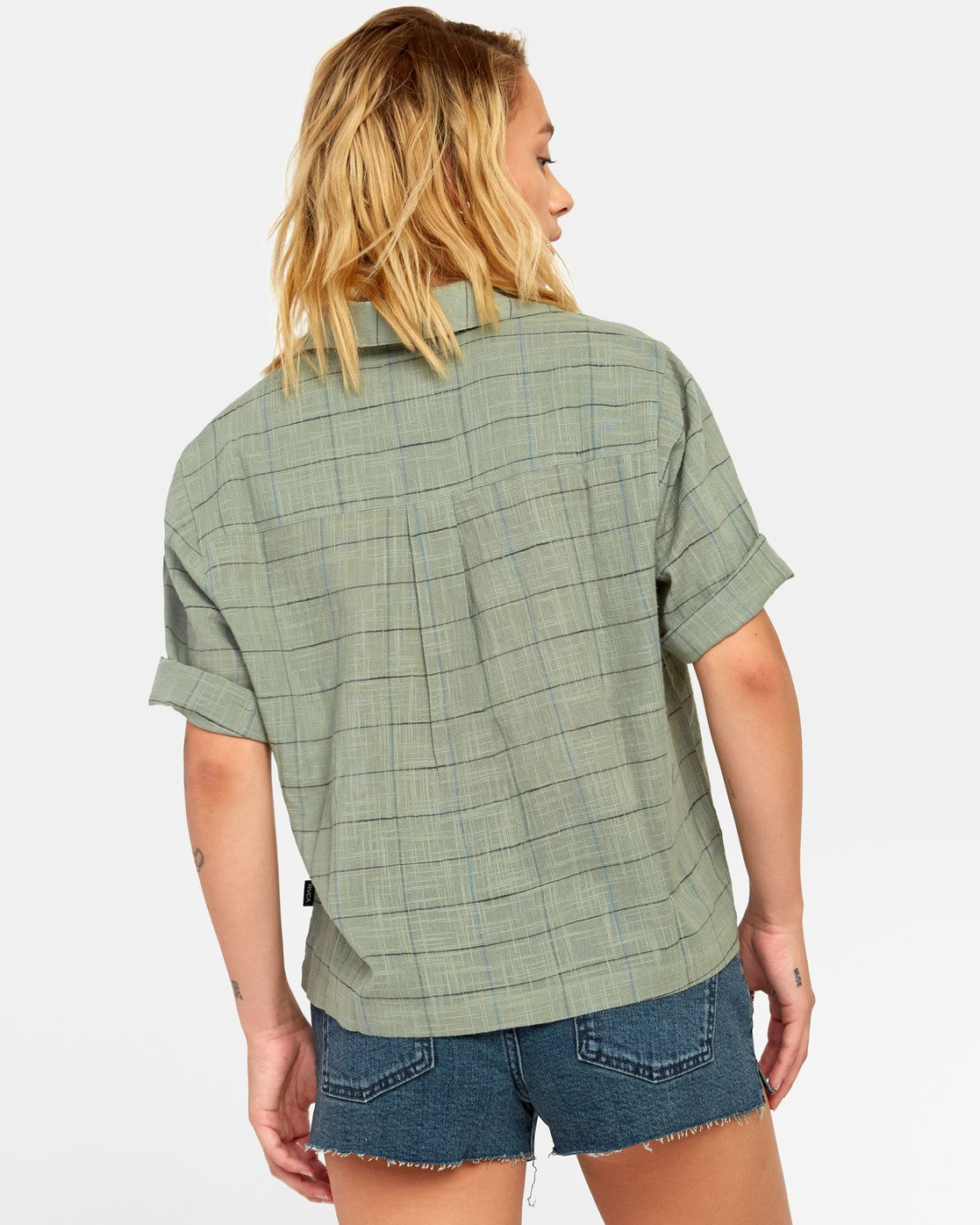 3 FOREIGN BUTTON-UP SHIRT Green W5071RFO RVCA