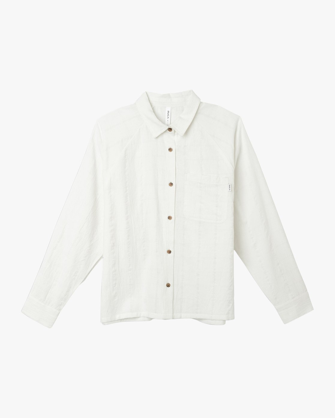 6 Winging It Woven Button-Up Shirt White W507TRWI RVCA