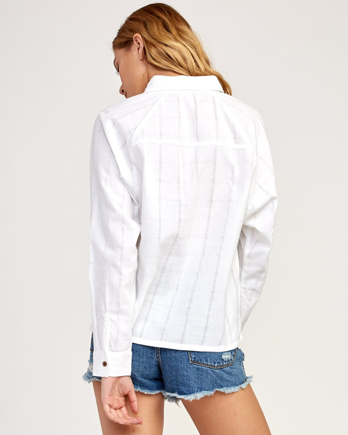 3 Winging It Woven Button-Up Shirt White W507TRWI RVCA