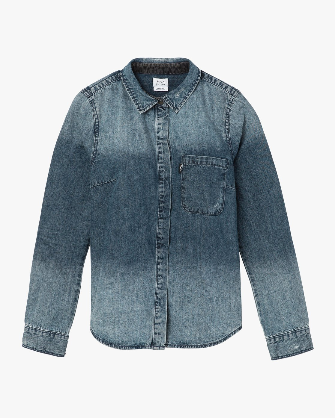5 Unearthed Washed Denim Shirt  W508QRUN RVCA