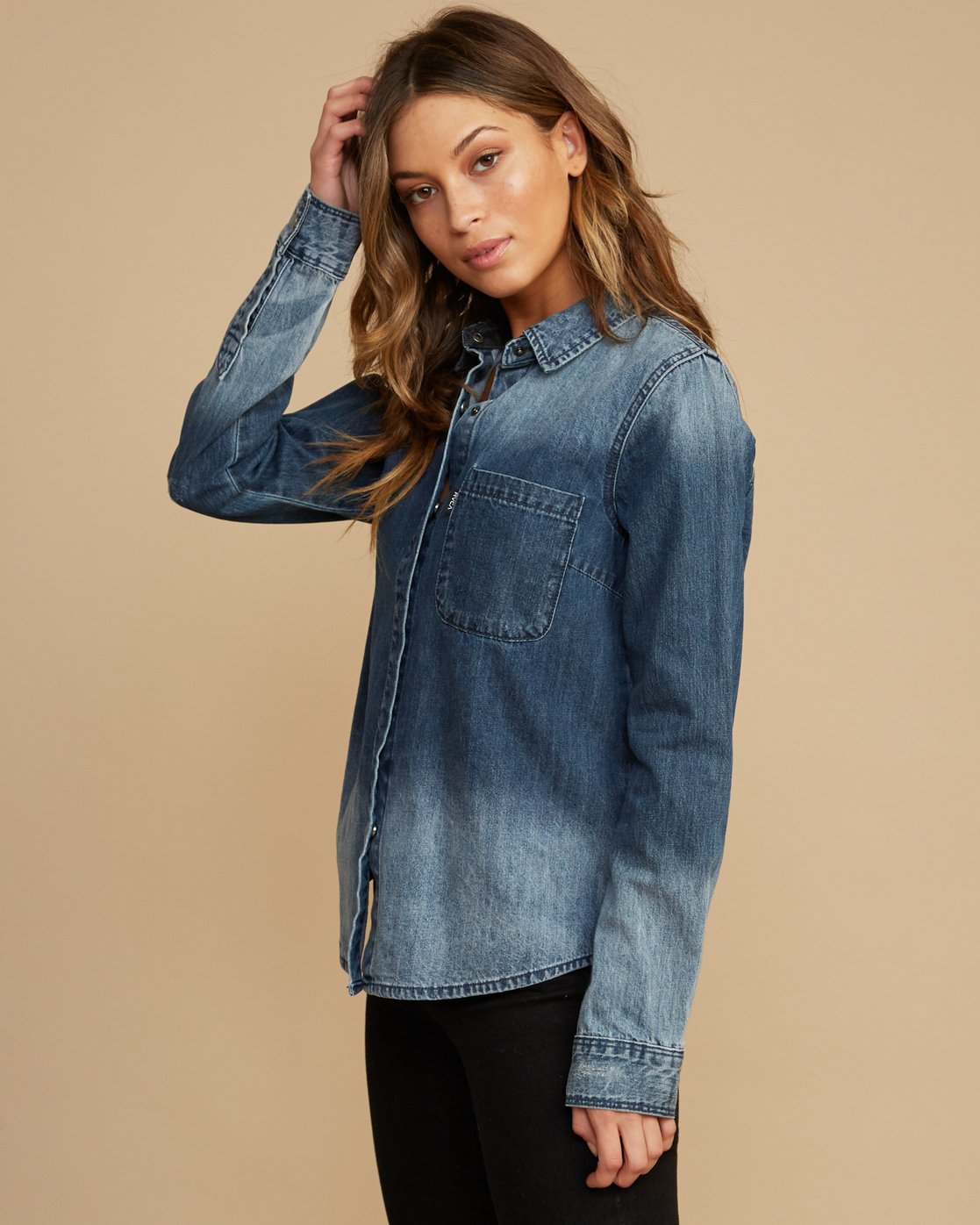 2 Unearthed Washed Denim Shirt  W508QRUN RVCA
