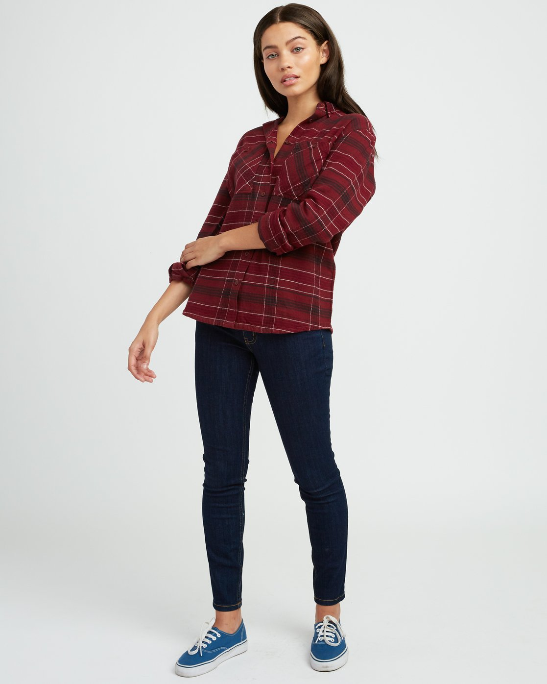 4 Roam Plaid Flannel Pink W510SRRO RVCA