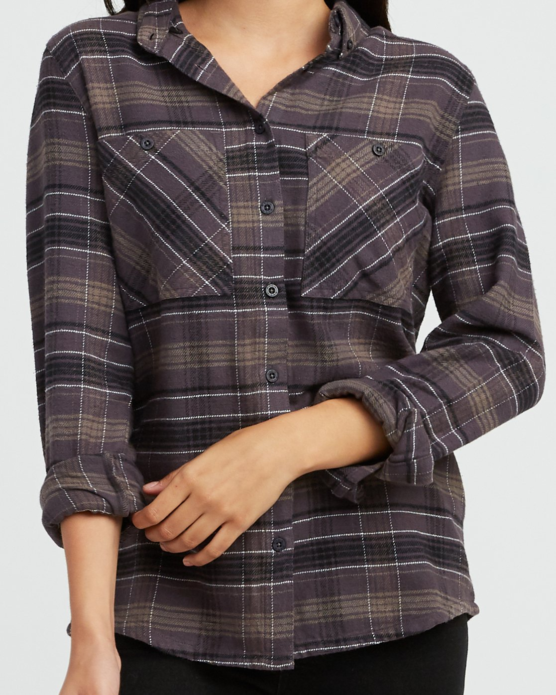 3 Roam Plaid Flannel Black W510SRRO RVCA