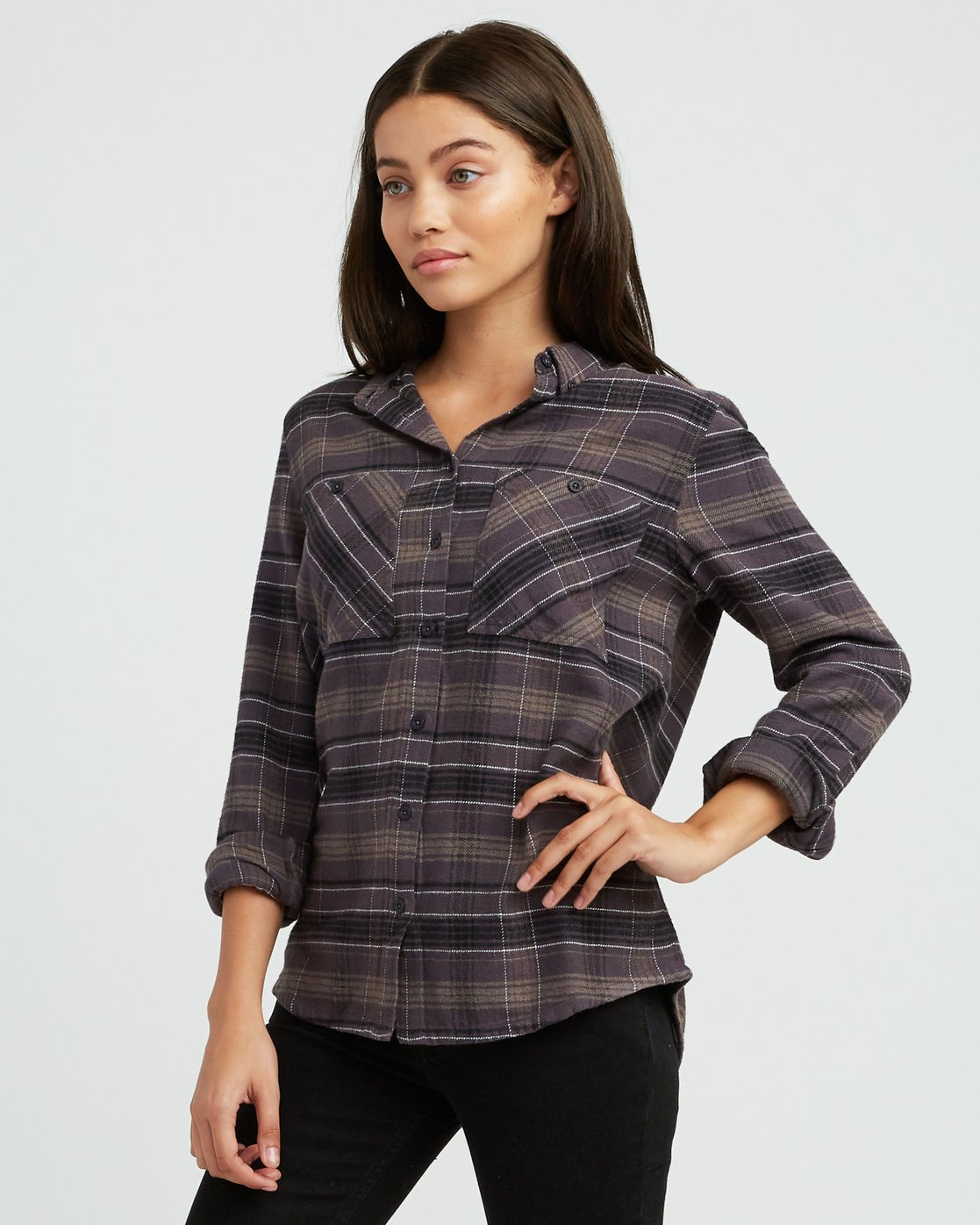 1 Roam Plaid Flannel Black W510SRRO RVCA
