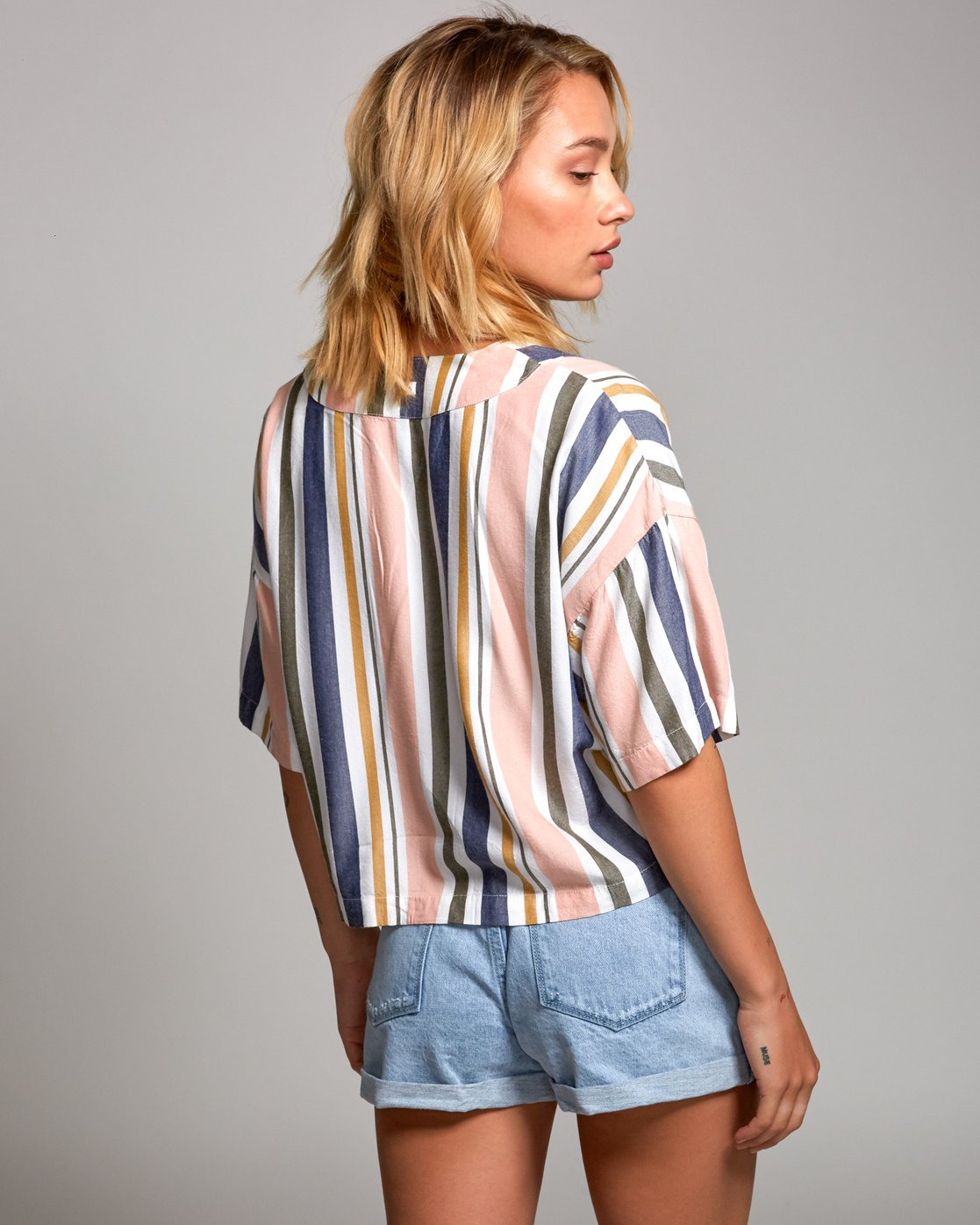 2 Hendrix Striped Woven Top Multicolor W510URHE RVCA
