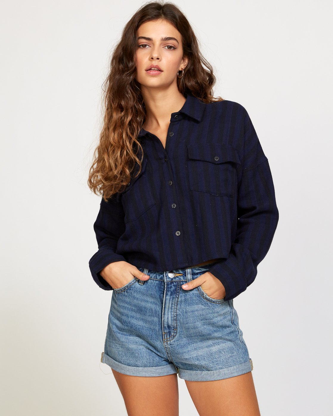 1 Vedder Button-Up Shirt Blue W513VRVE RVCA