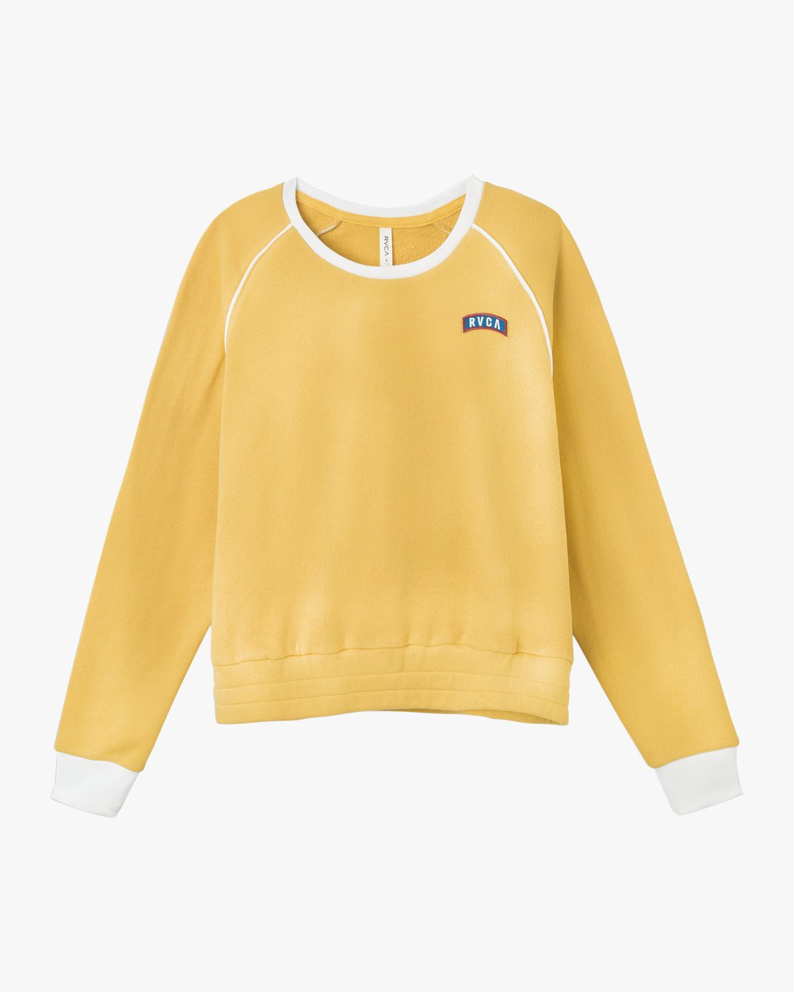 6 Hangtown Fleece Sweatshirt Yellow W601TRHF RVCA