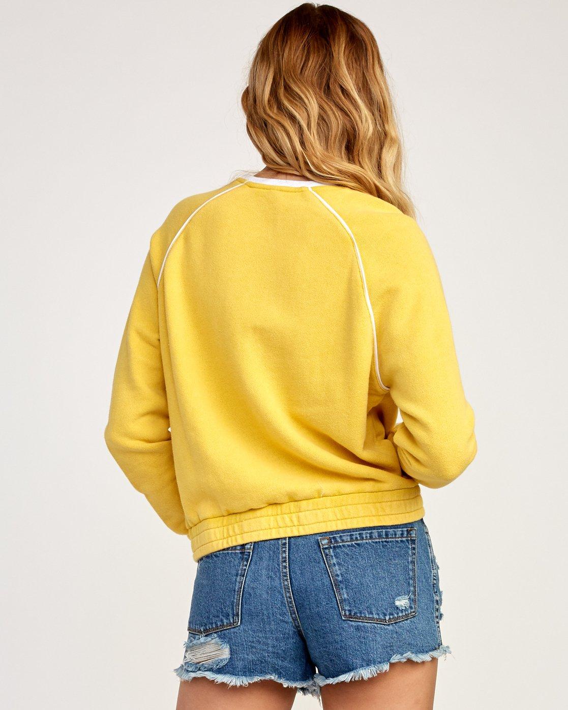 3 Hangtown Fleece Sweatshirt Beige W601TRHF RVCA
