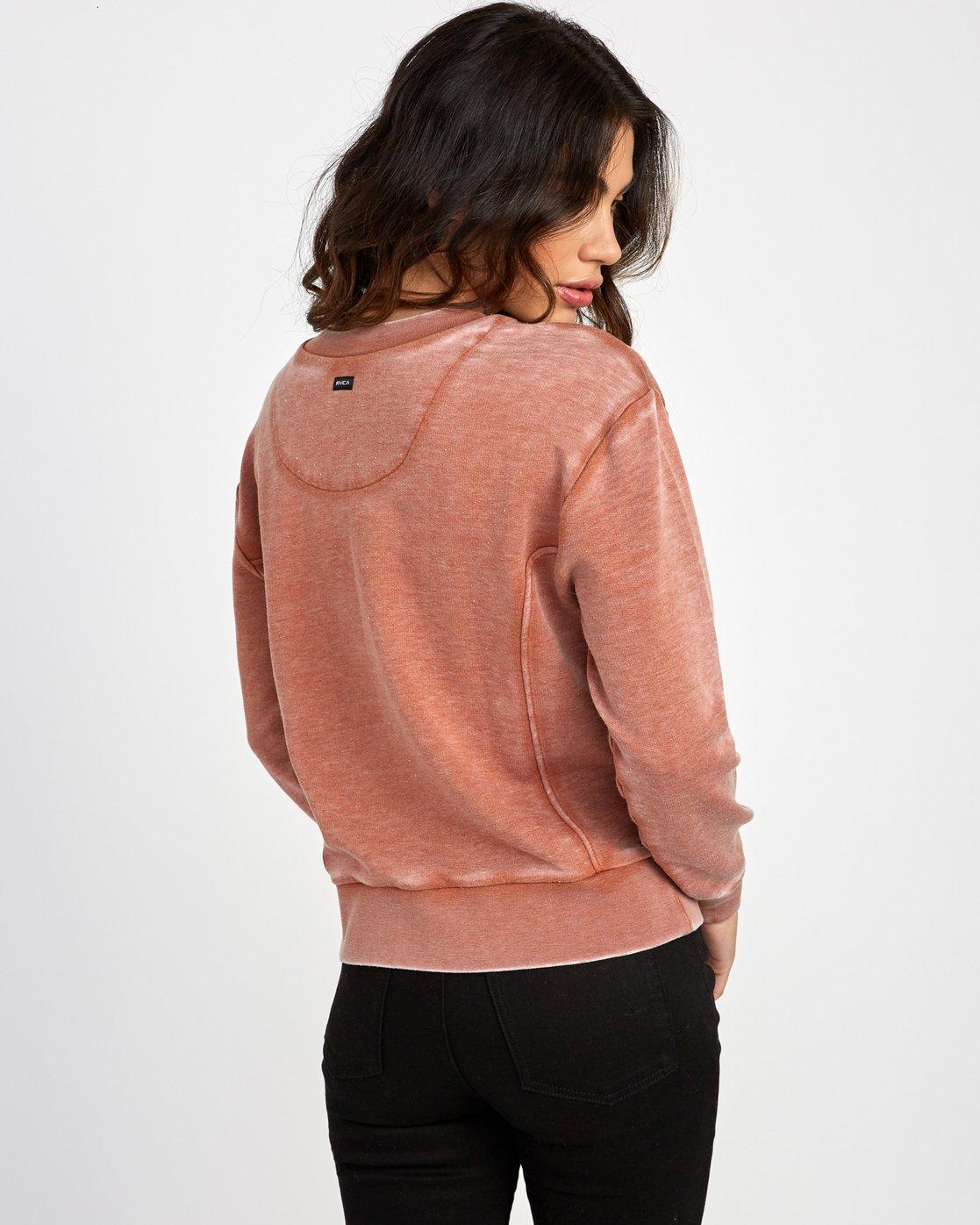 2 Grisancich Prowl Pullover Sweatshirt Orange W601VRPR RVCA
