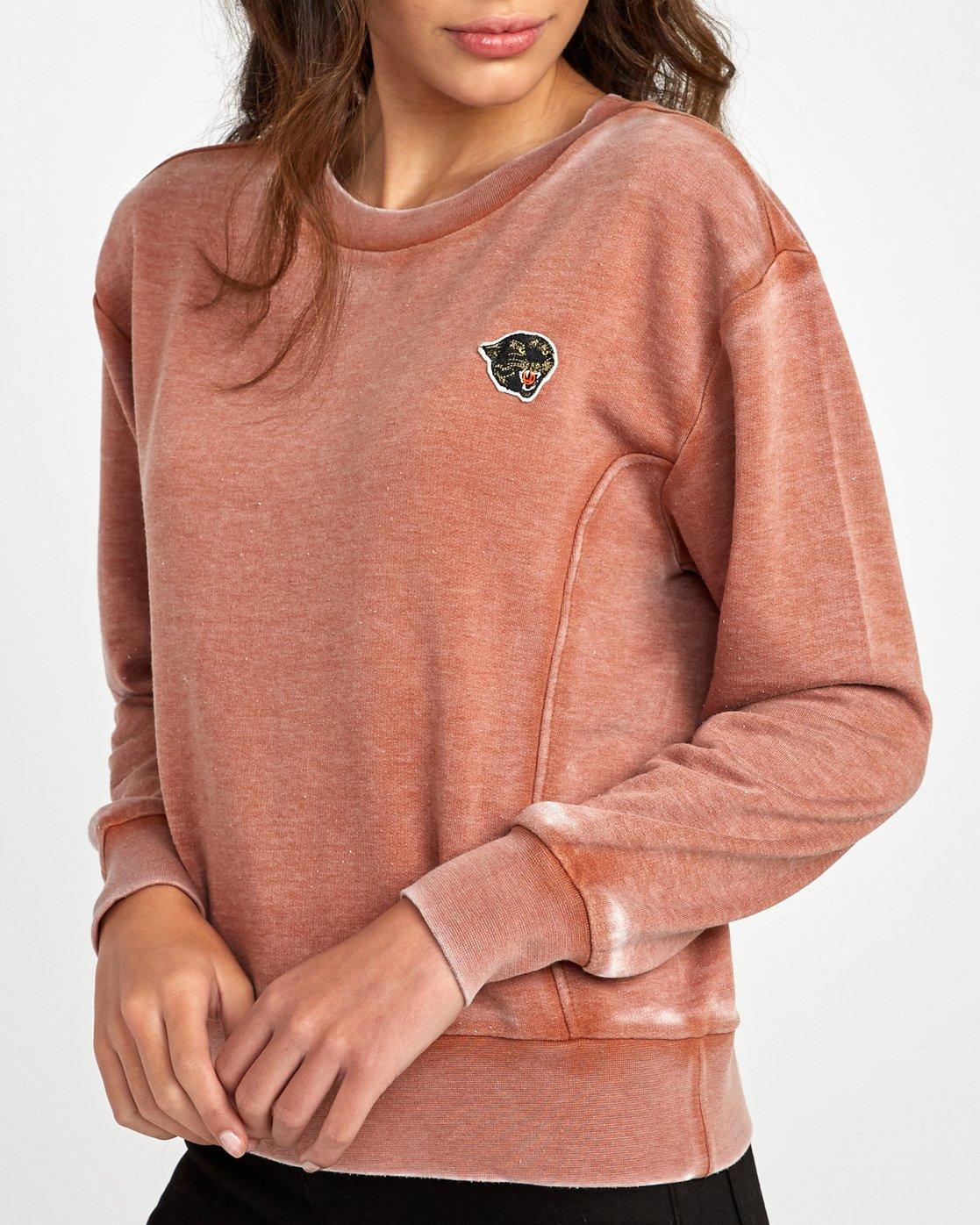 3 Grisancich Prowl Pullover Sweatshirt Grey W601VRPR RVCA