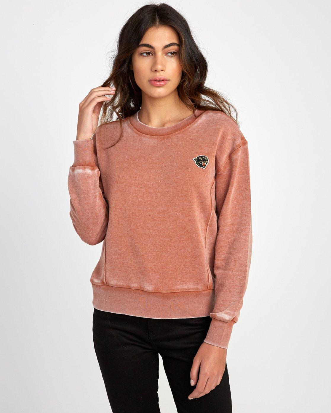 0 Grisancich Prowl Pullover Sweatshirt Orange W601VRPR RVCA