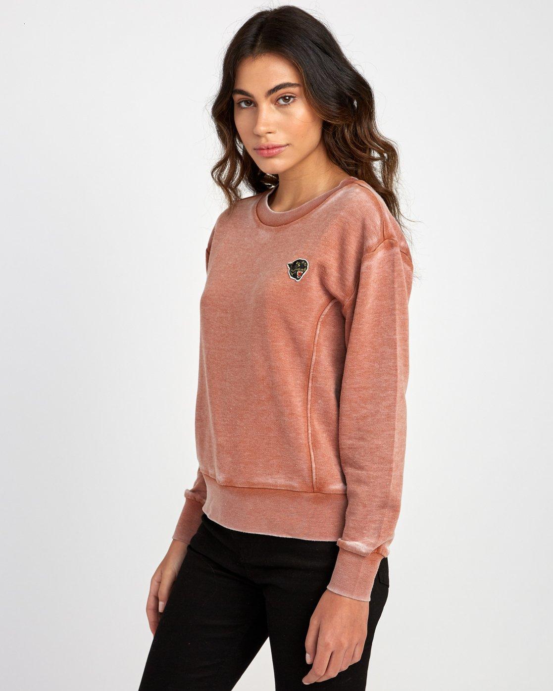 1 Grisancich Prowl Pullover Sweatshirt Grey W601VRPR RVCA