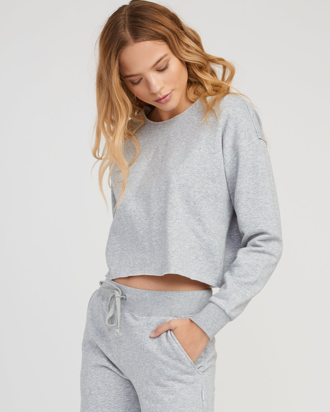 1 Stranger Cropped Sweater Grey W603SRST RVCA