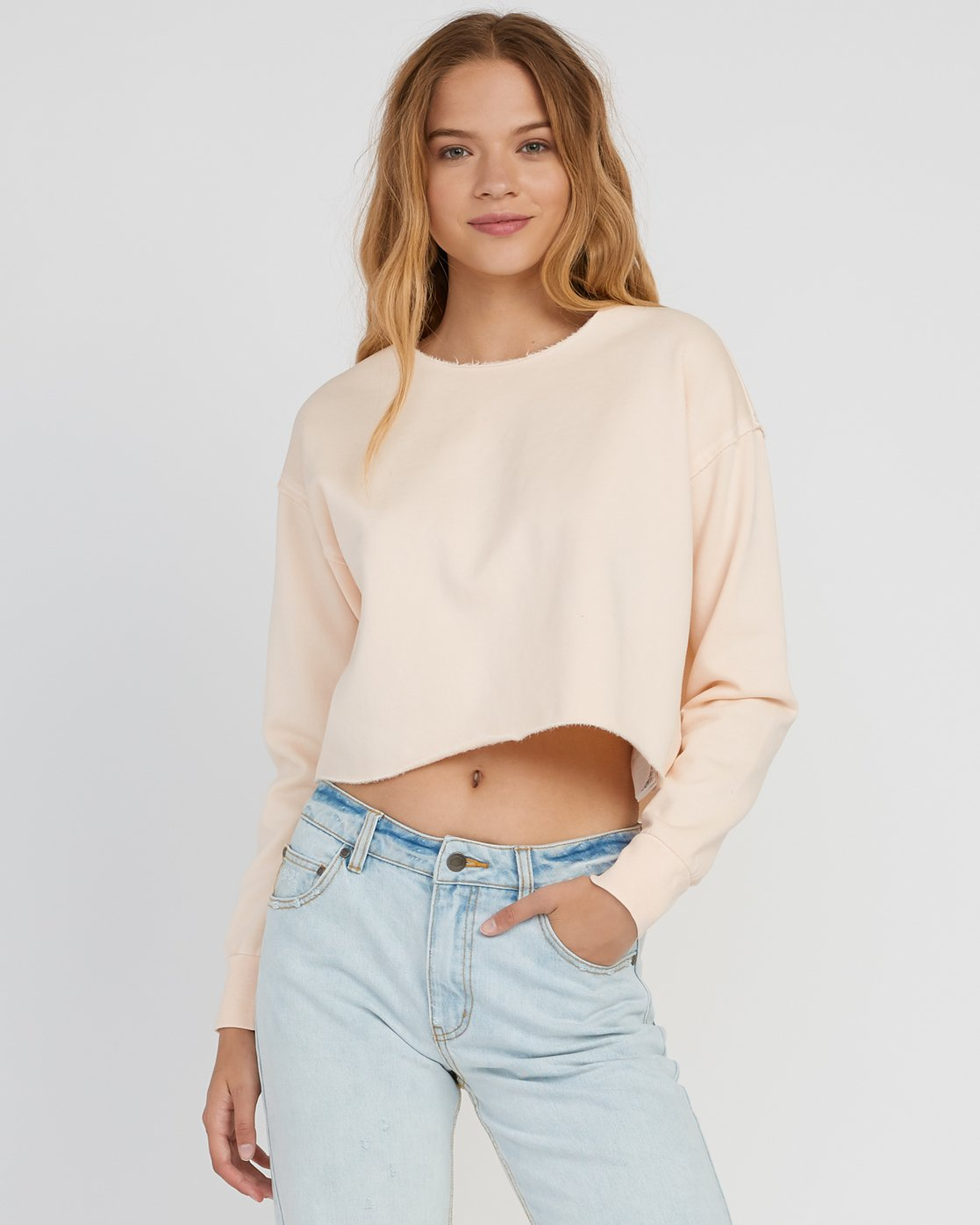 0 Stranger Cropped Sweater Pink W603SRST RVCA