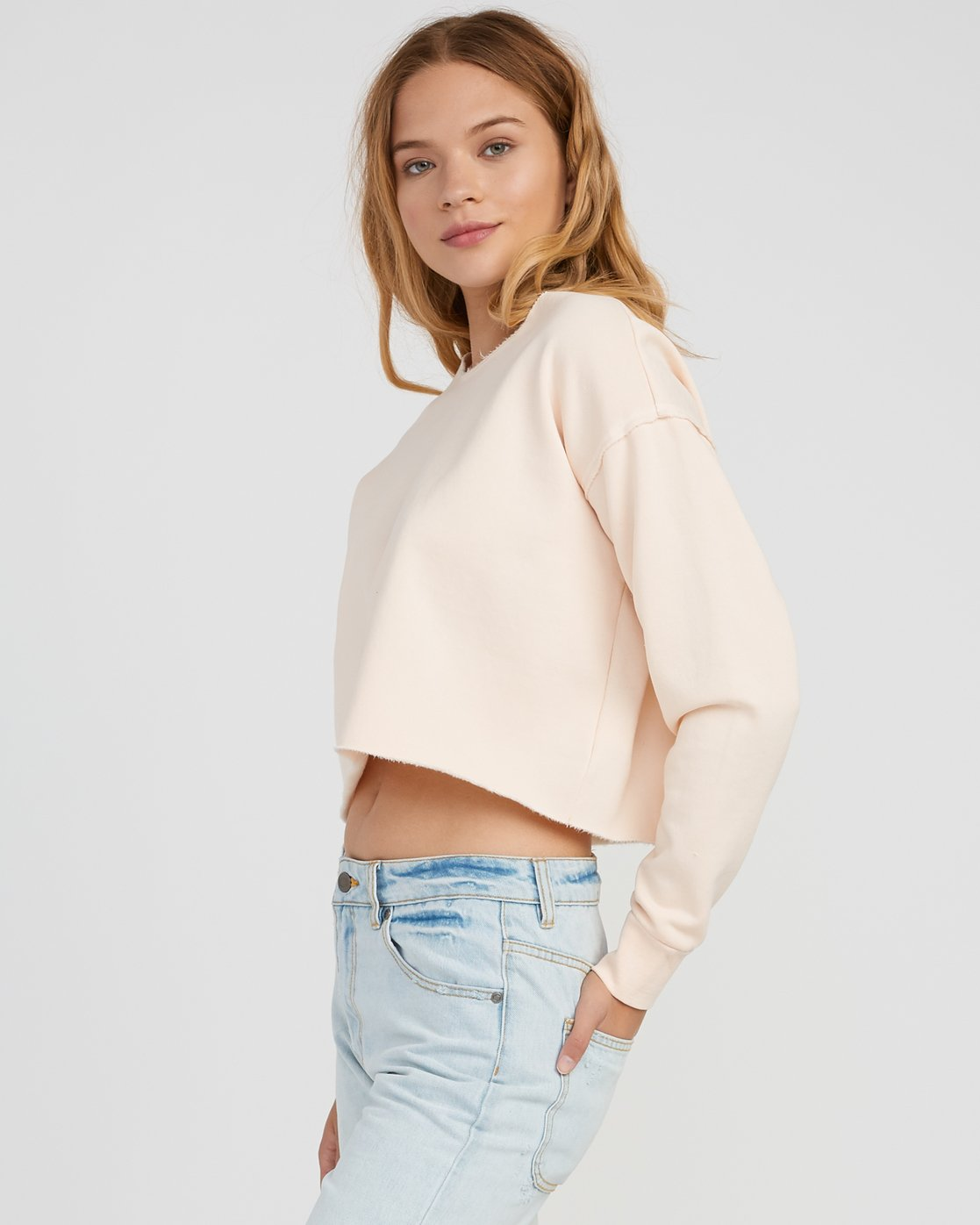1 Stranger Cropped Sweater Pink W603SRST RVCA