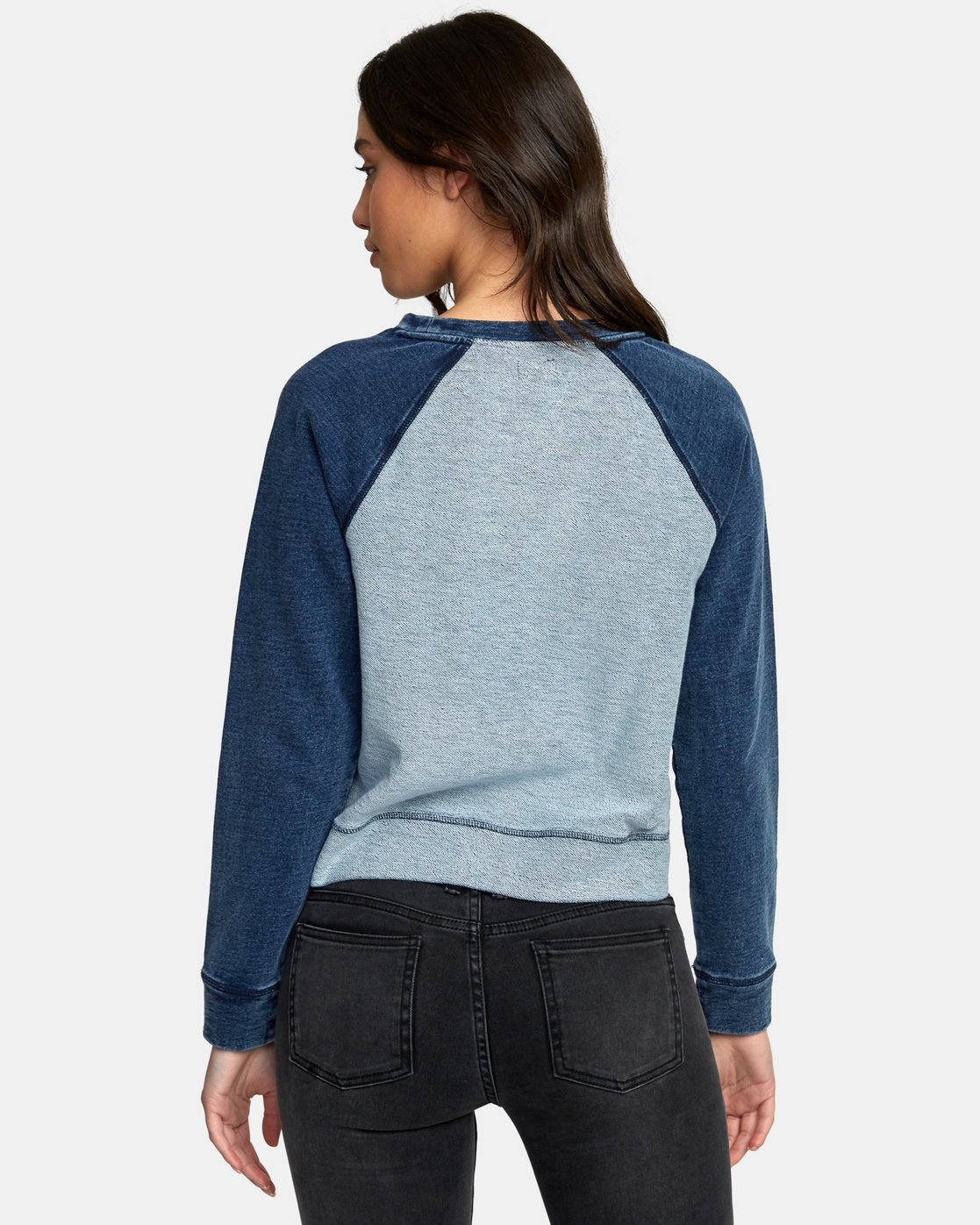 2 Swing It Fleece Sweatshirt Blue W603WRSW RVCA