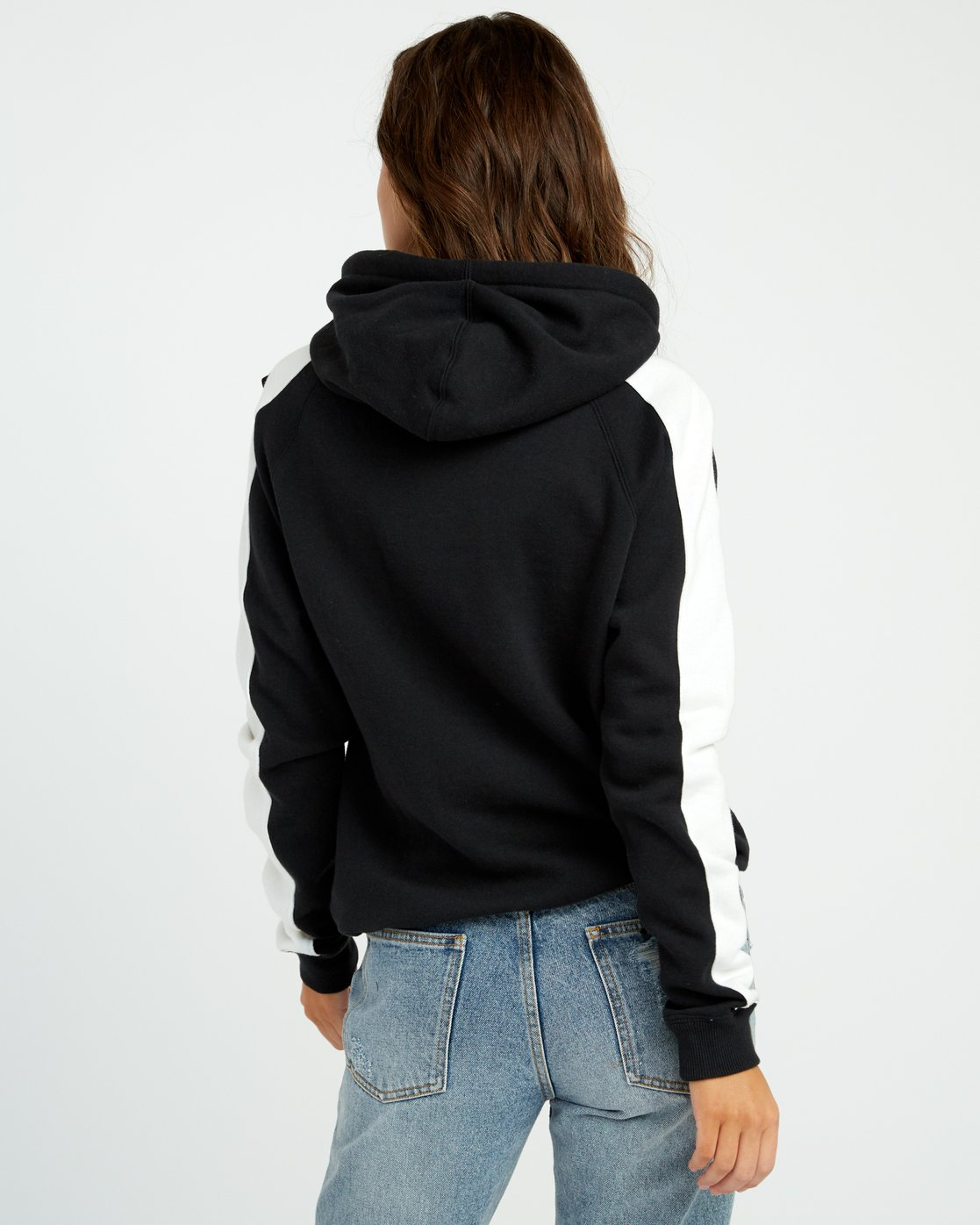 2 Maryweather Colorblocked Hoodie Black W612SRMA RVCA