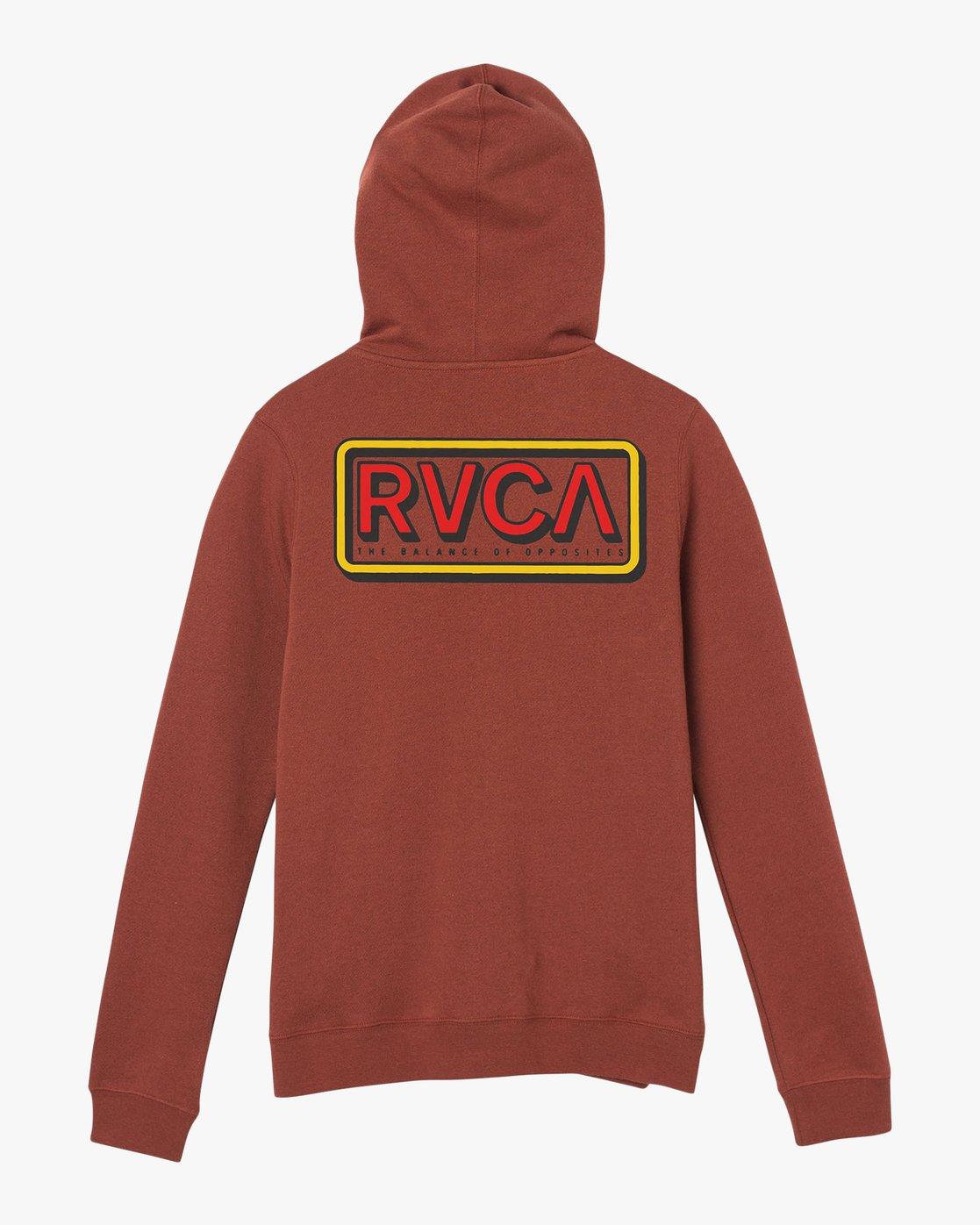 7 Octane Zip Up Hoodie Brown W616QROC RVCA