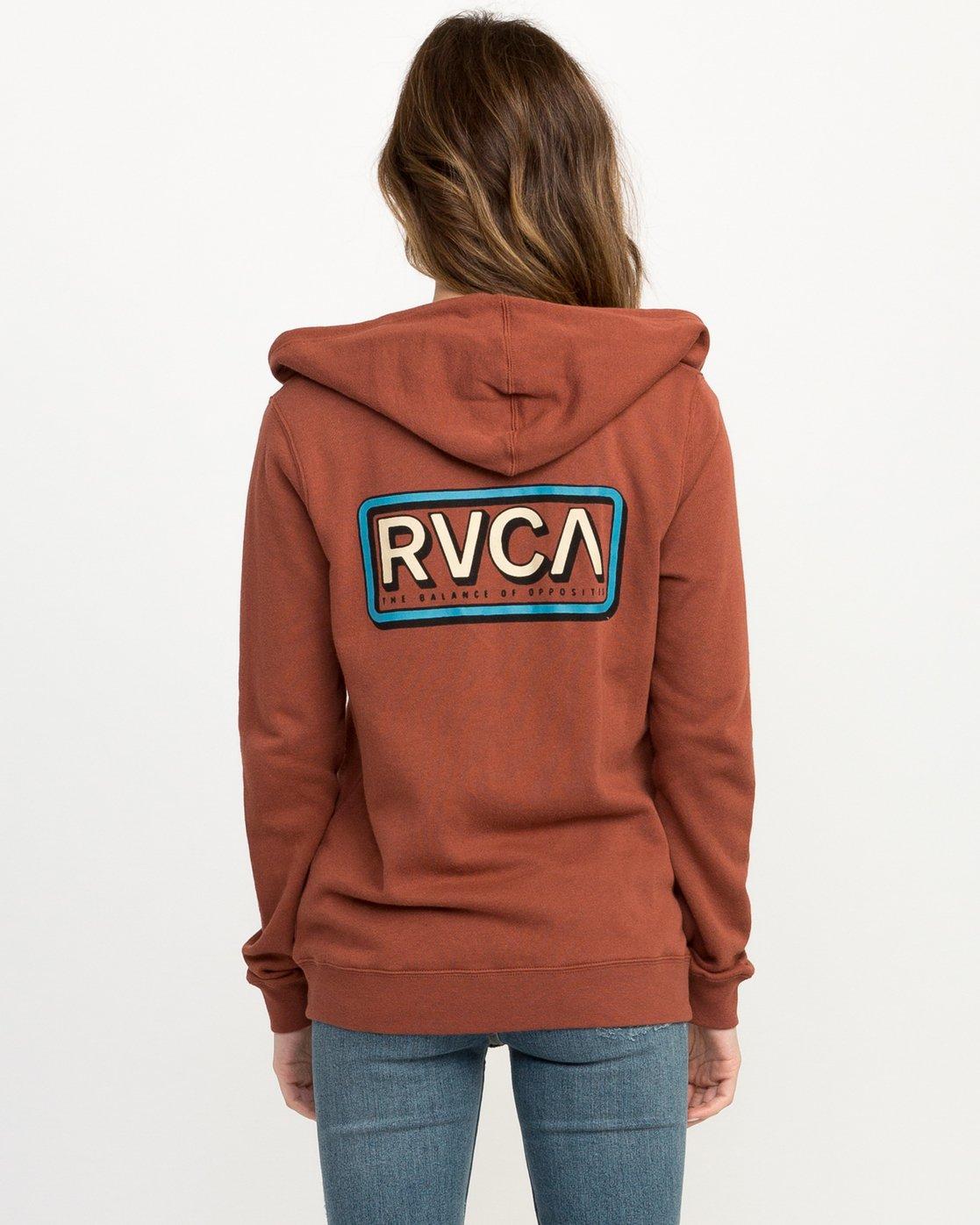3 Octane Zip Up Hoodie Brown W616QROC RVCA